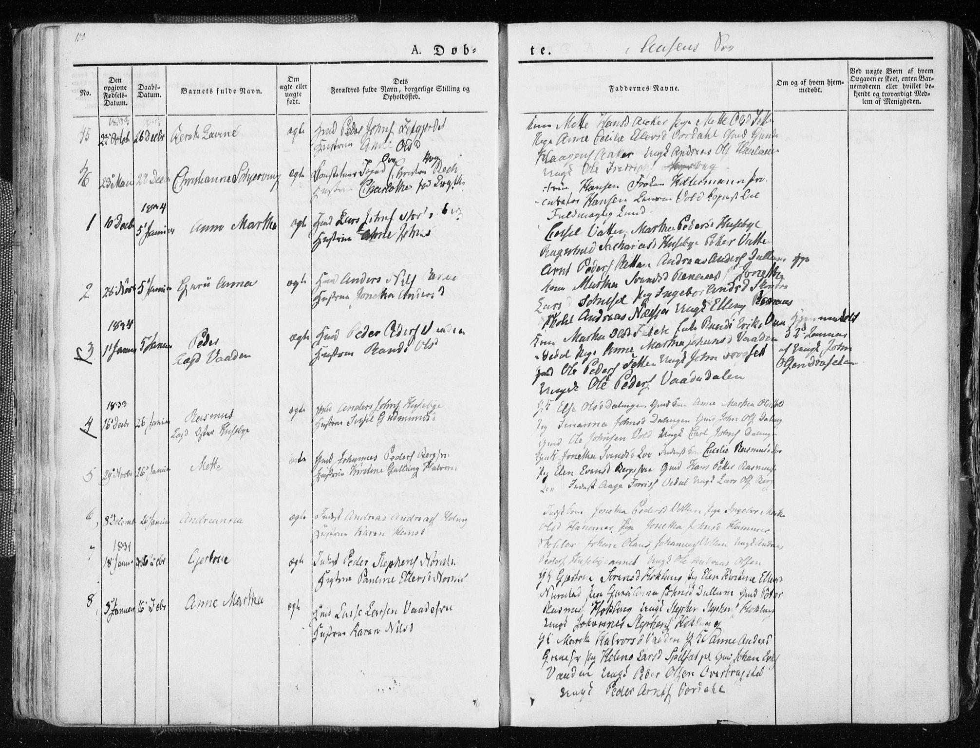 SAT, Ministerialprotokoller, klokkerbøker og fødselsregistre - Nord-Trøndelag, 713/L0114: Ministerialbok nr. 713A05, 1827-1839, s. 100
