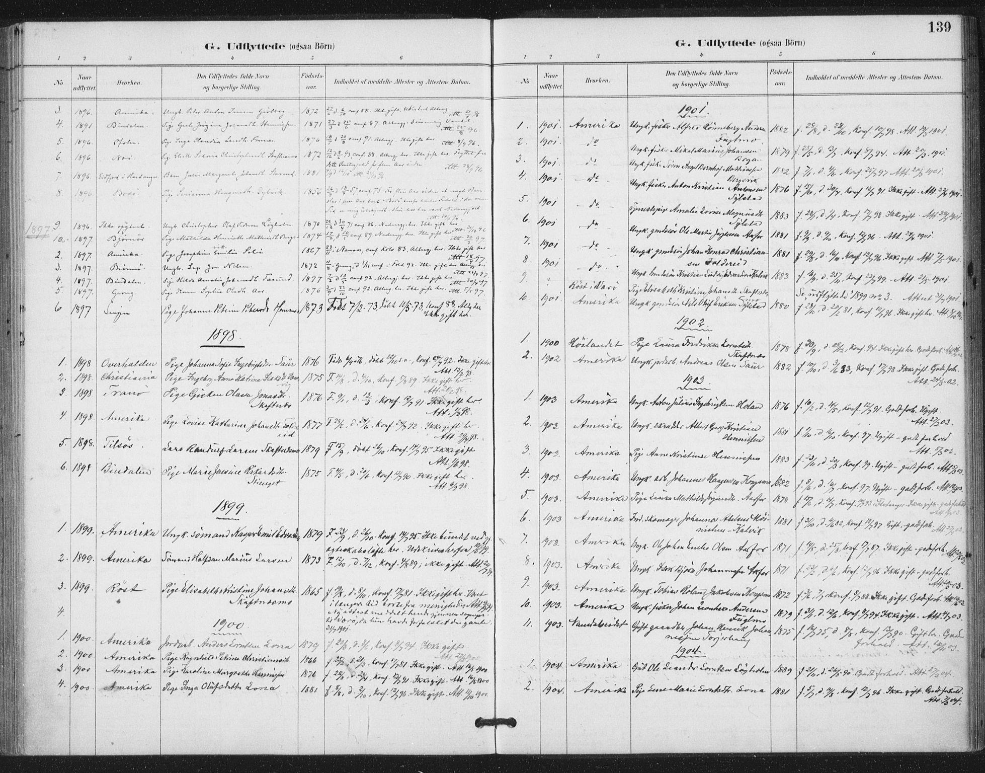 SAT, Ministerialprotokoller, klokkerbøker og fødselsregistre - Nord-Trøndelag, 783/L0660: Ministerialbok nr. 783A02, 1886-1918, s. 139