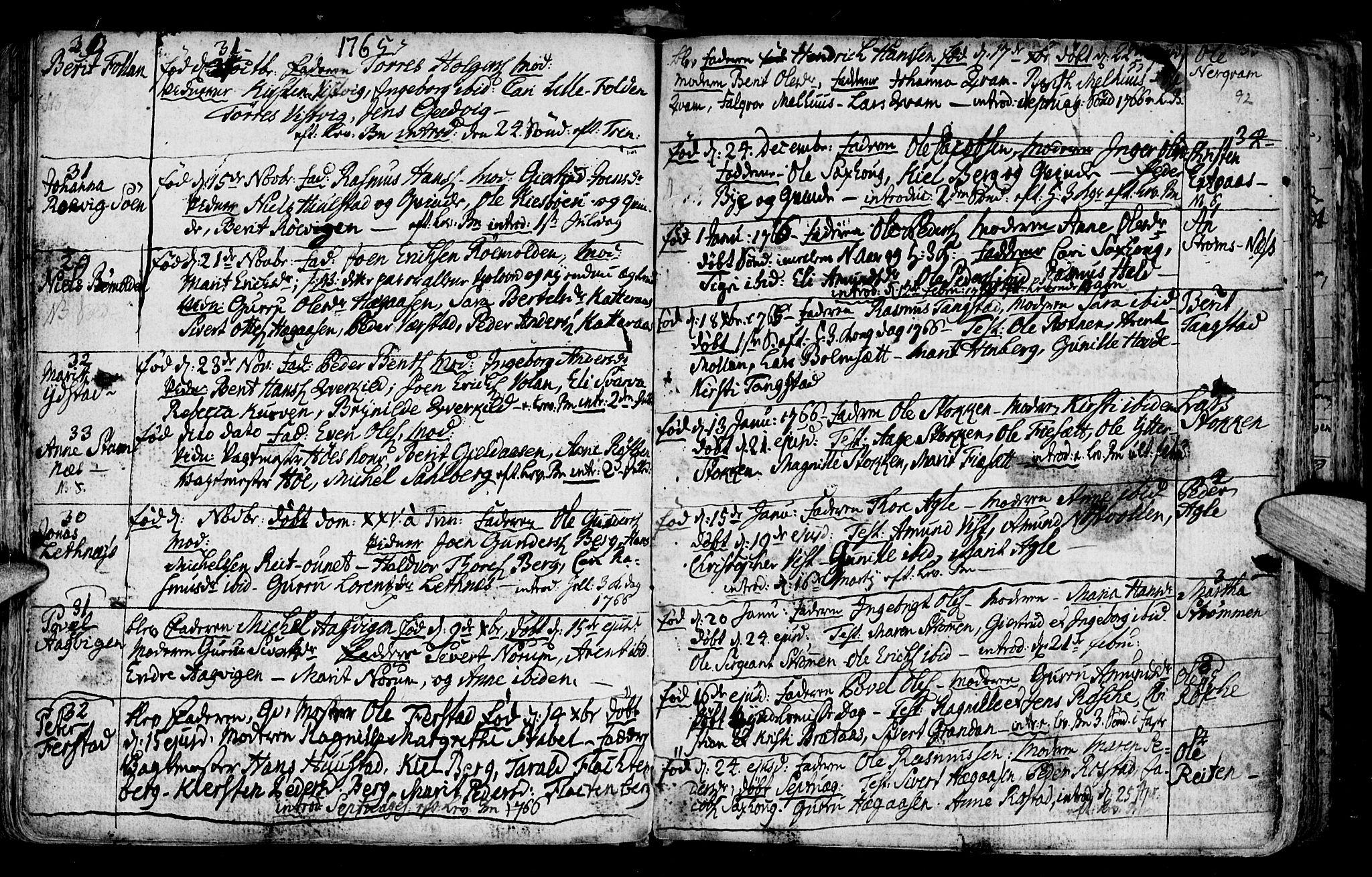SAT, Ministerialprotokoller, klokkerbøker og fødselsregistre - Nord-Trøndelag, 730/L0273: Ministerialbok nr. 730A02, 1762-1802, s. 92