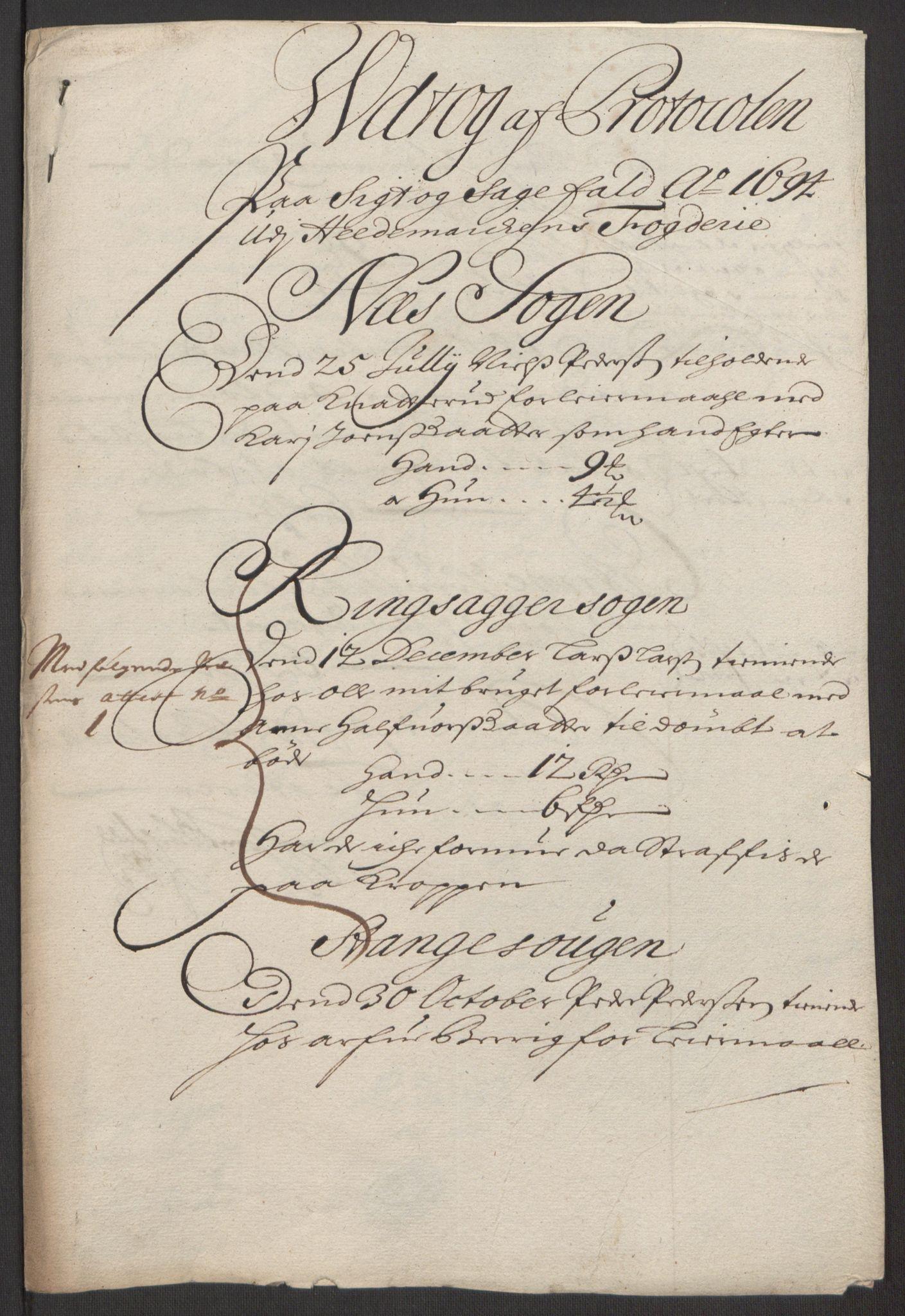 RA, Rentekammeret inntil 1814, Reviderte regnskaper, Fogderegnskap, R16/L1035: Fogderegnskap Hedmark, 1694, s. 71