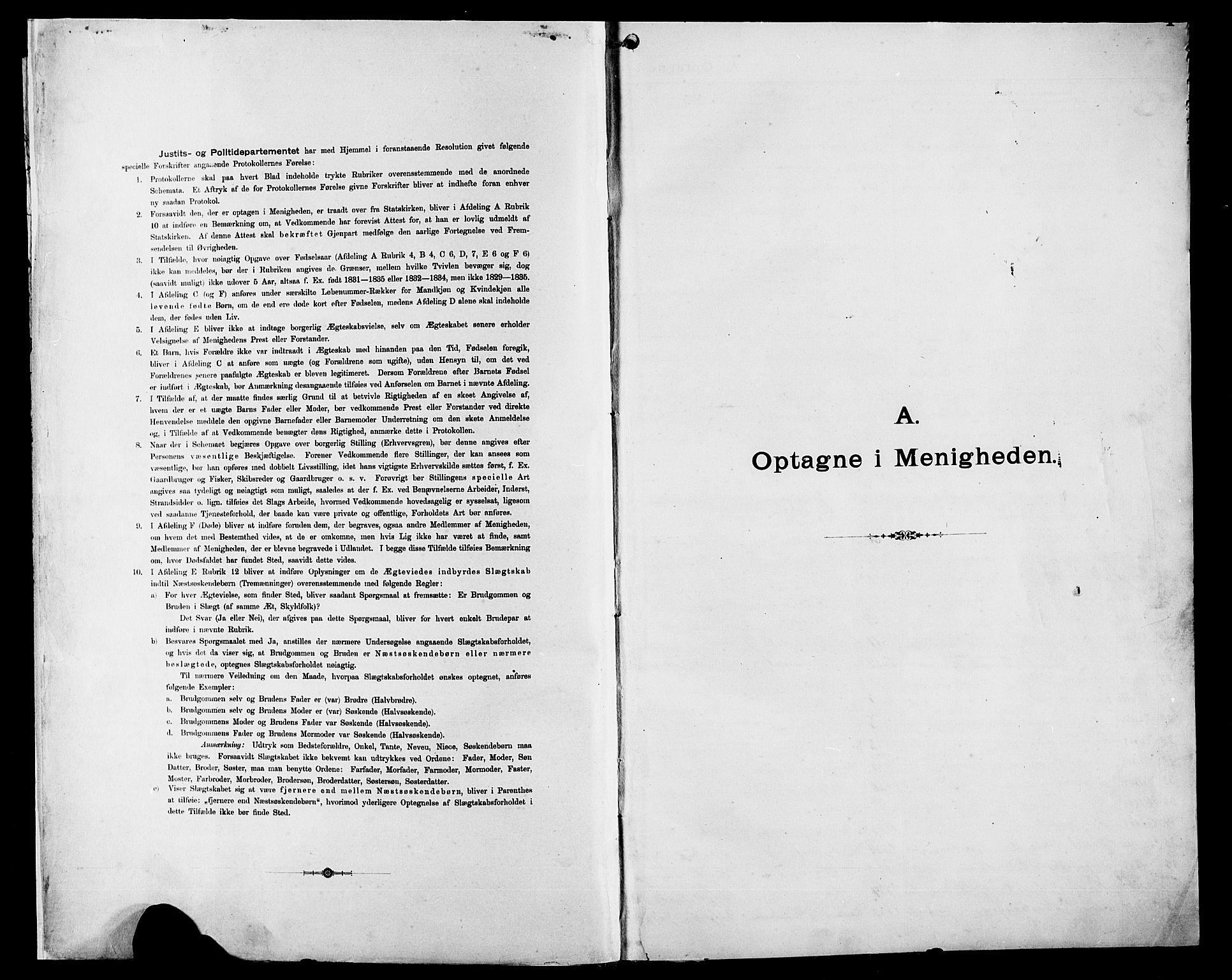 SAST, Pa 0160 - Vennenes Samfunn, Stavanger, F/Fb/L0001: Dissenterprotokoll nr. 1, 1860-1897, s. 1