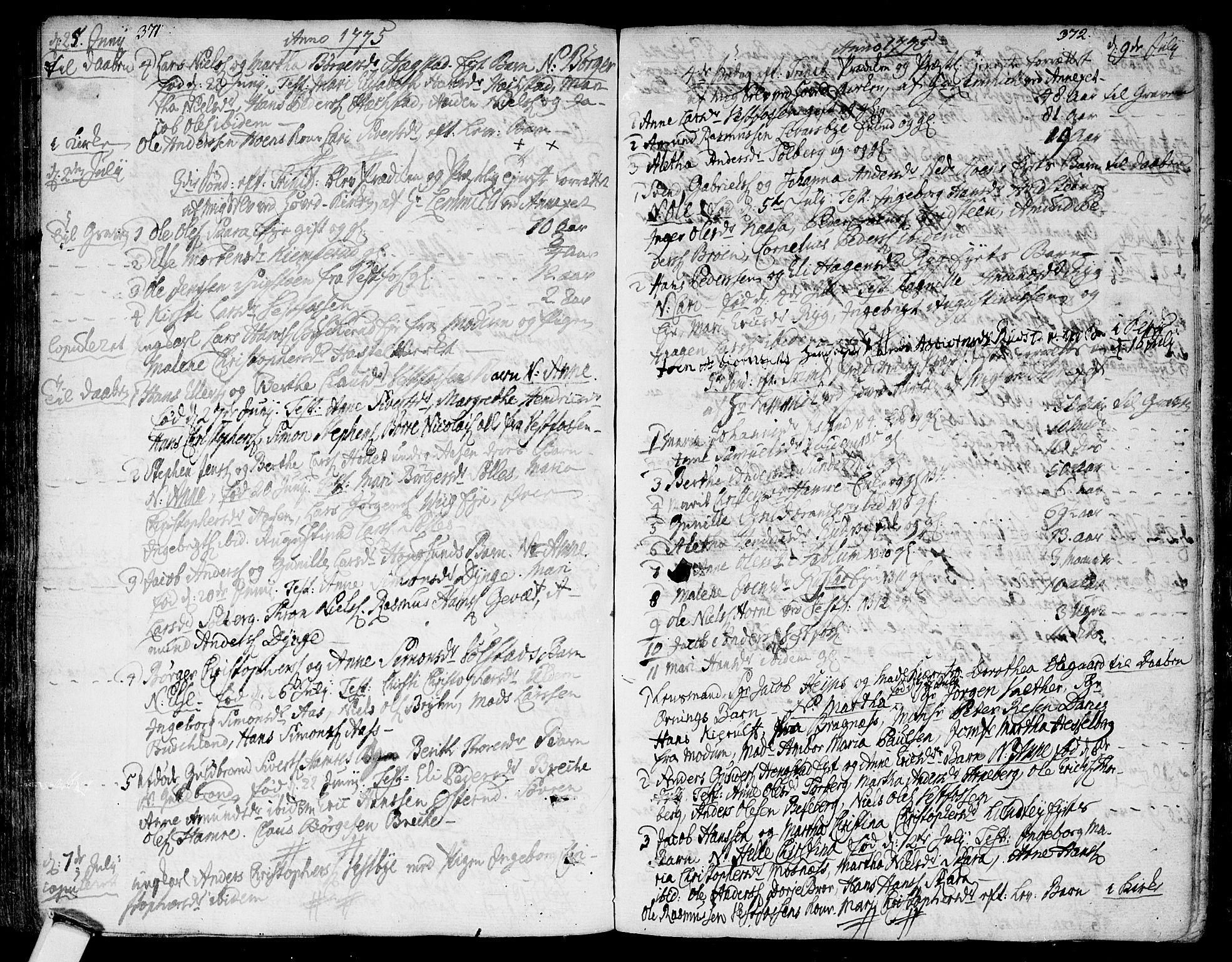 SAKO, Eiker kirkebøker, F/Fa/L0008: Ministerialbok nr. I 8, 1764-1788, s. 371-372