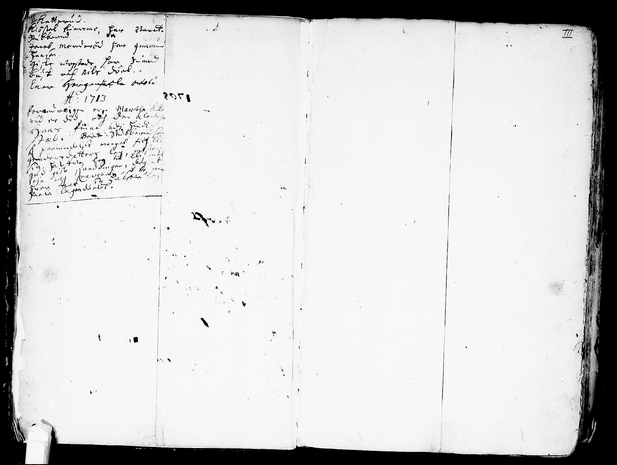 SAO, Nes prestekontor Kirkebøker, F/Fa/L0001: Ministerialbok nr. I 1, 1689-1716, s. II