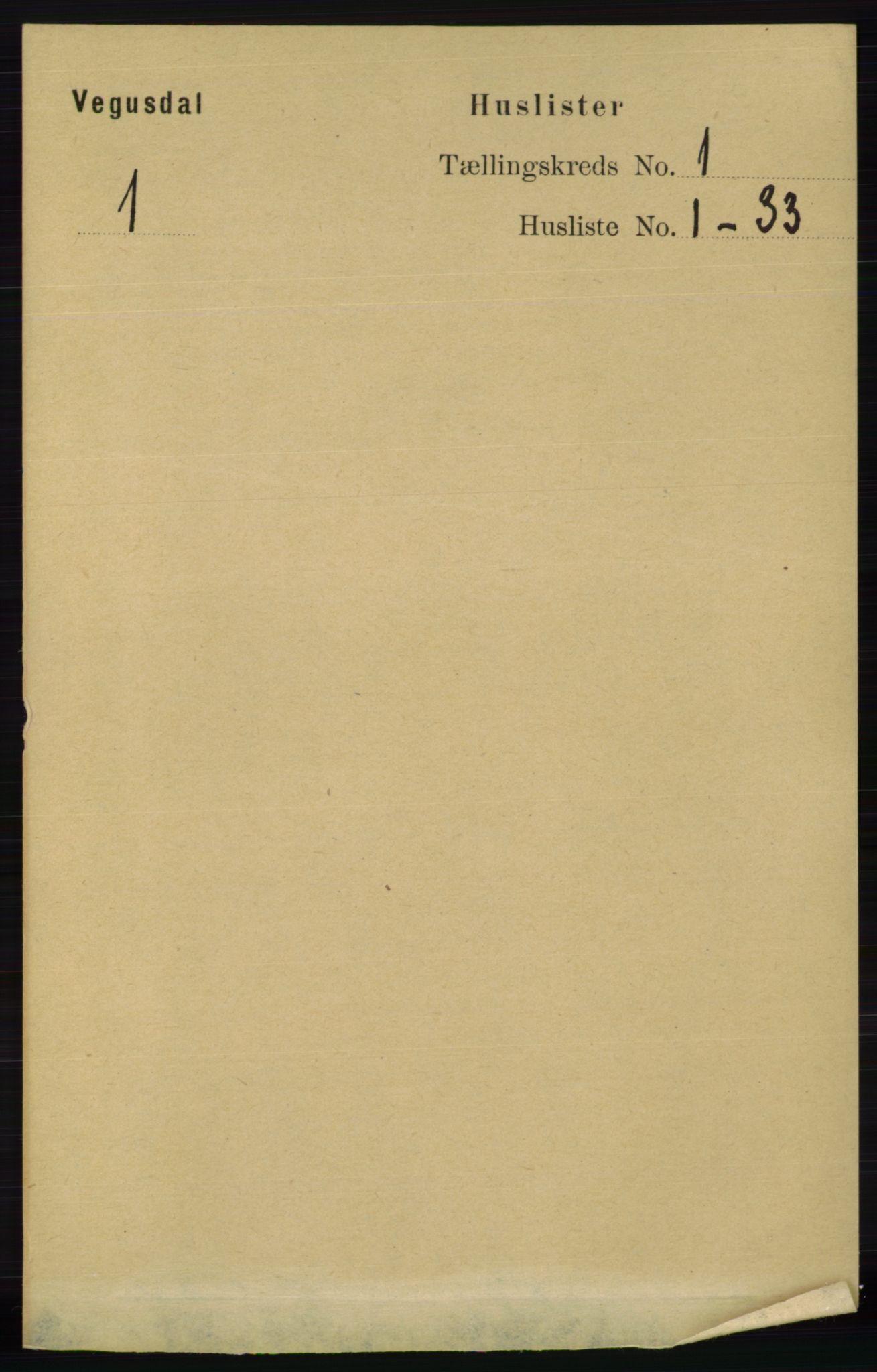 RA, Folketelling 1891 for 0934 Vegusdal herred, 1891, s. 18