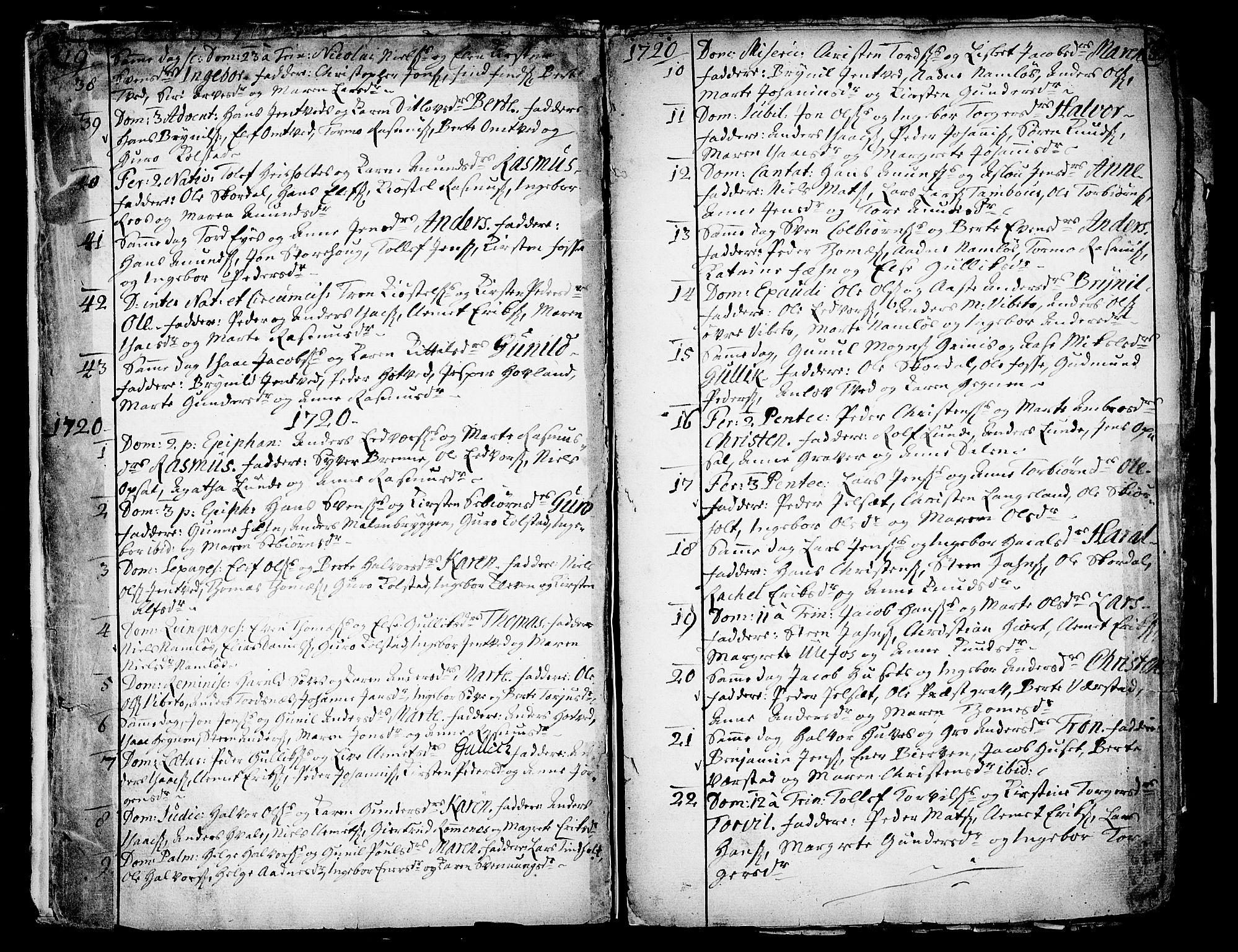 SAKO, Holla kirkebøker, F/Fa/L0001: Ministerialbok nr. 1, 1717-1779, s. 5