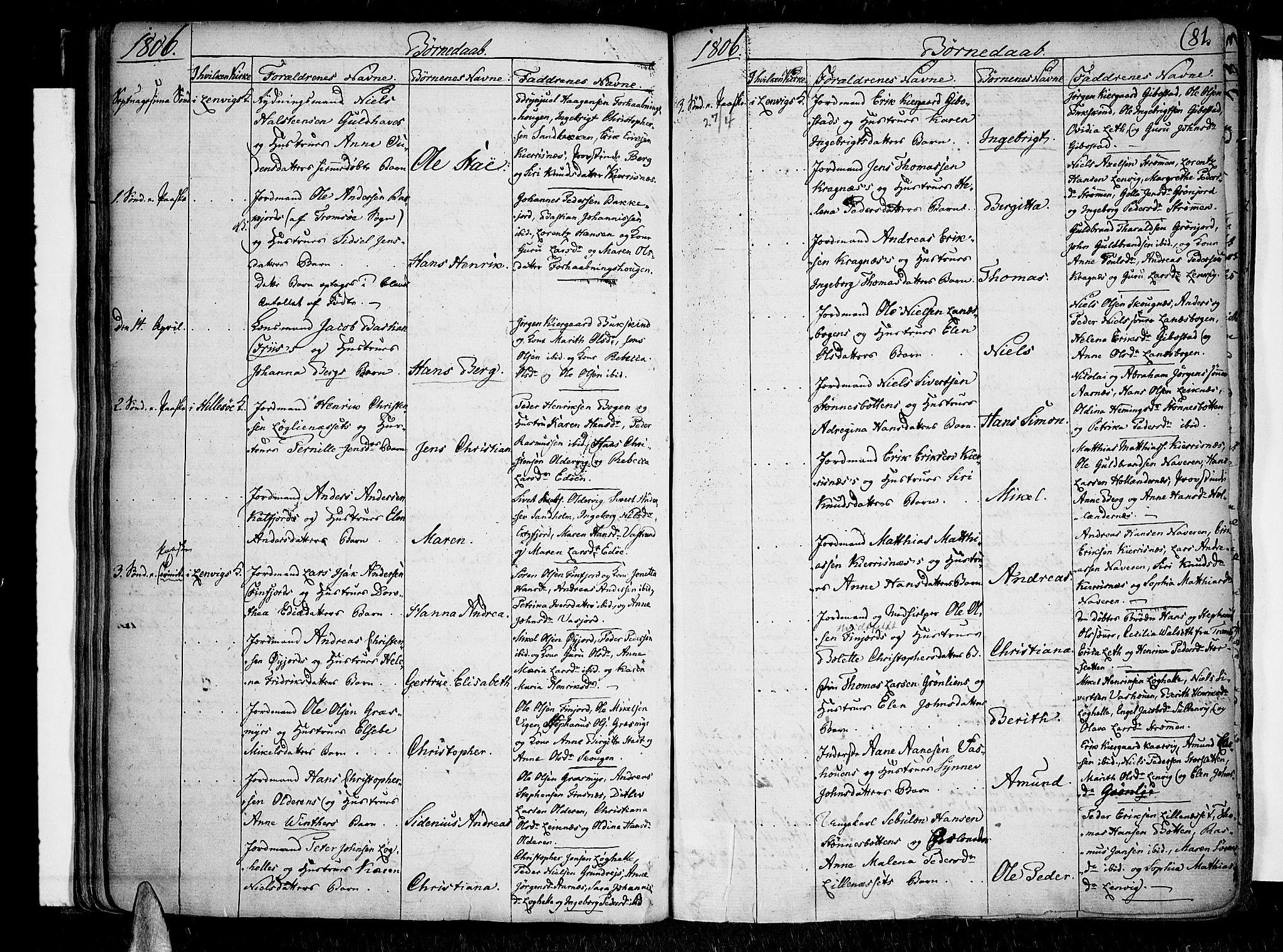 SATØ, Lenvik sokneprestembete, H/Ha/Haa/L0002kirke: Ministerialbok nr. 2, 1784-1820, s. 81