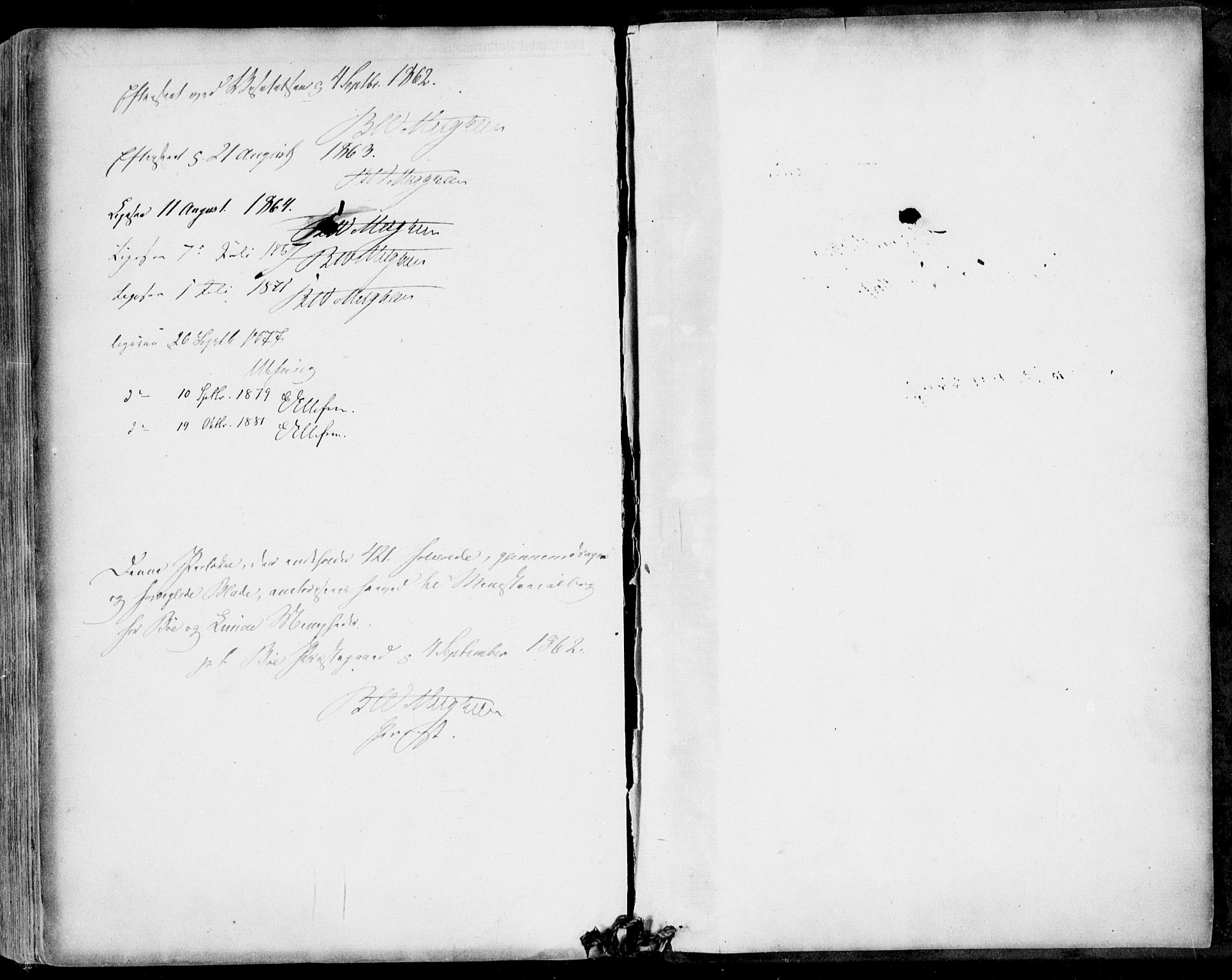 SAKO, Bø kirkebøker, F/Fa/L0009: Ministerialbok nr. 9, 1862-1879