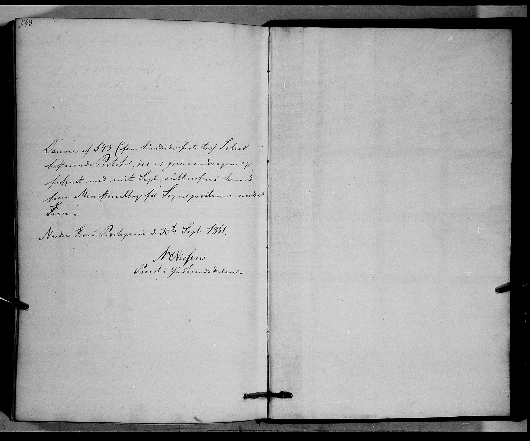SAH, Nord-Fron prestekontor, Ministerialbok nr. 1, 1851-1864, s. 543