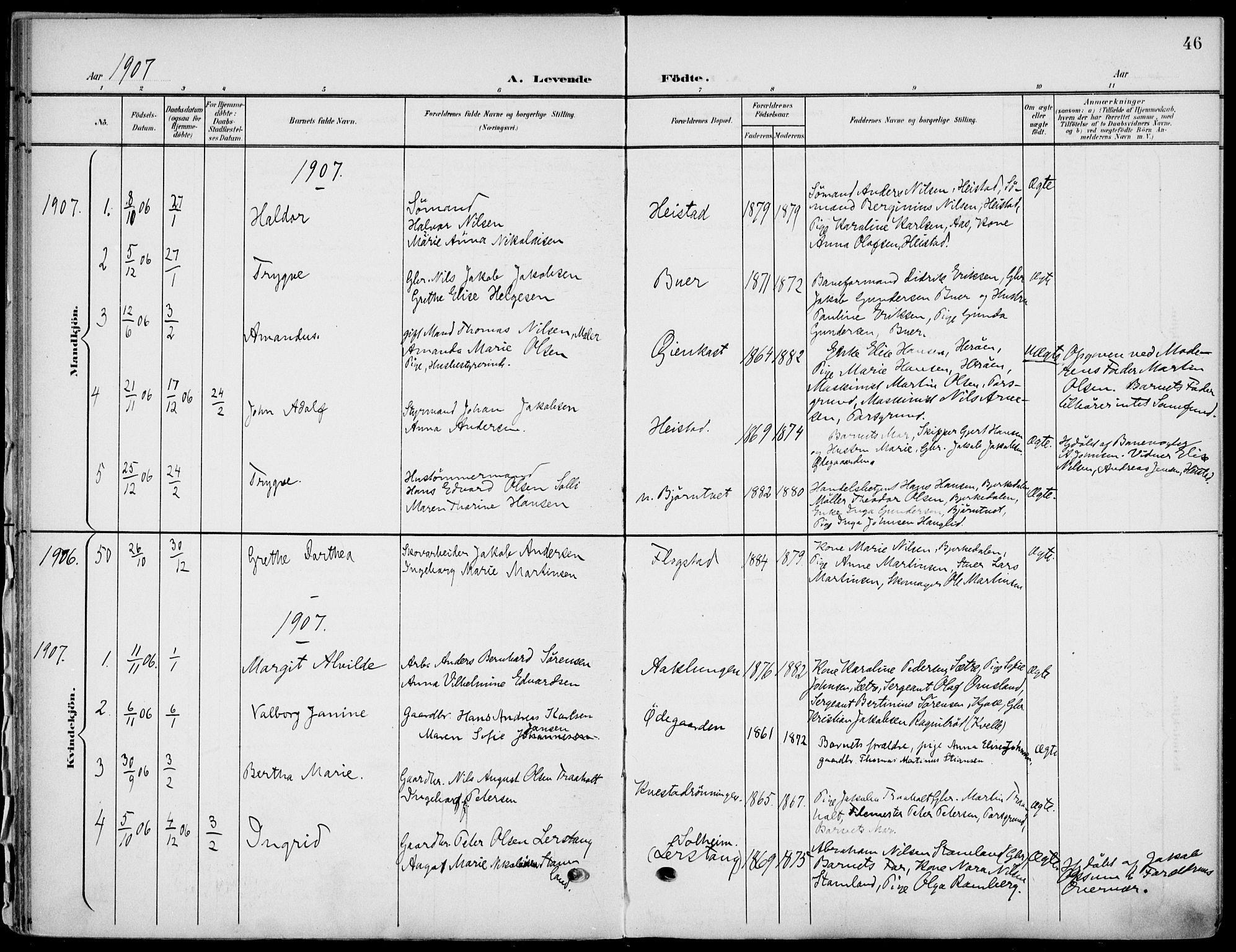 SAKO, Eidanger kirkebøker, F/Fa/L0013: Ministerialbok nr. 13, 1900-1913, s. 46