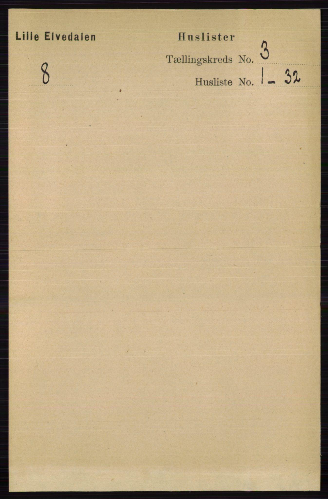 RA, Folketelling 1891 for 0438 Lille Elvedalen herred, 1891, s. 994