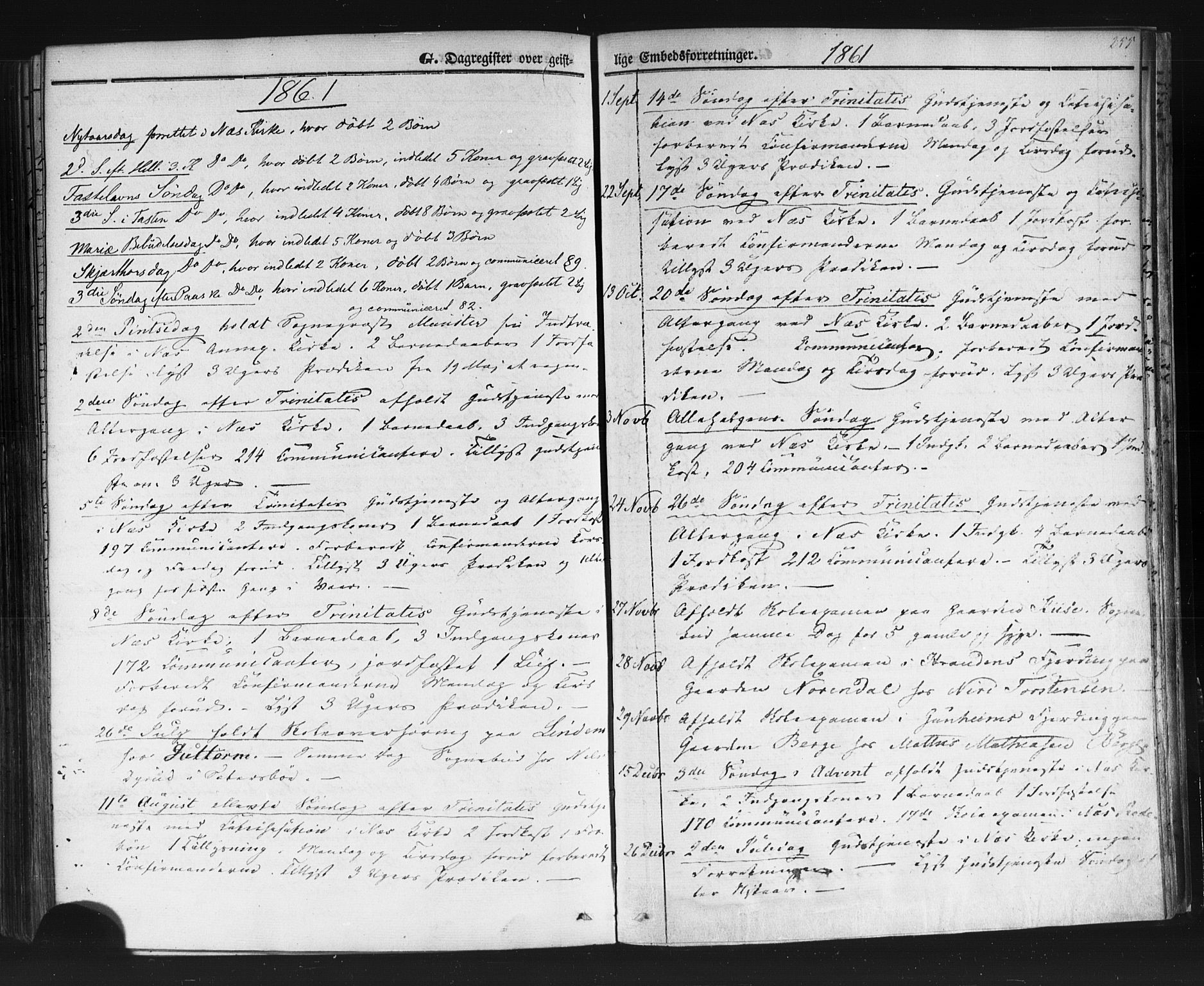 SAKO, Sauherad kirkebøker, F/Fb/L0001: Ministerialbok nr. II 1, 1851-1877, s. 255