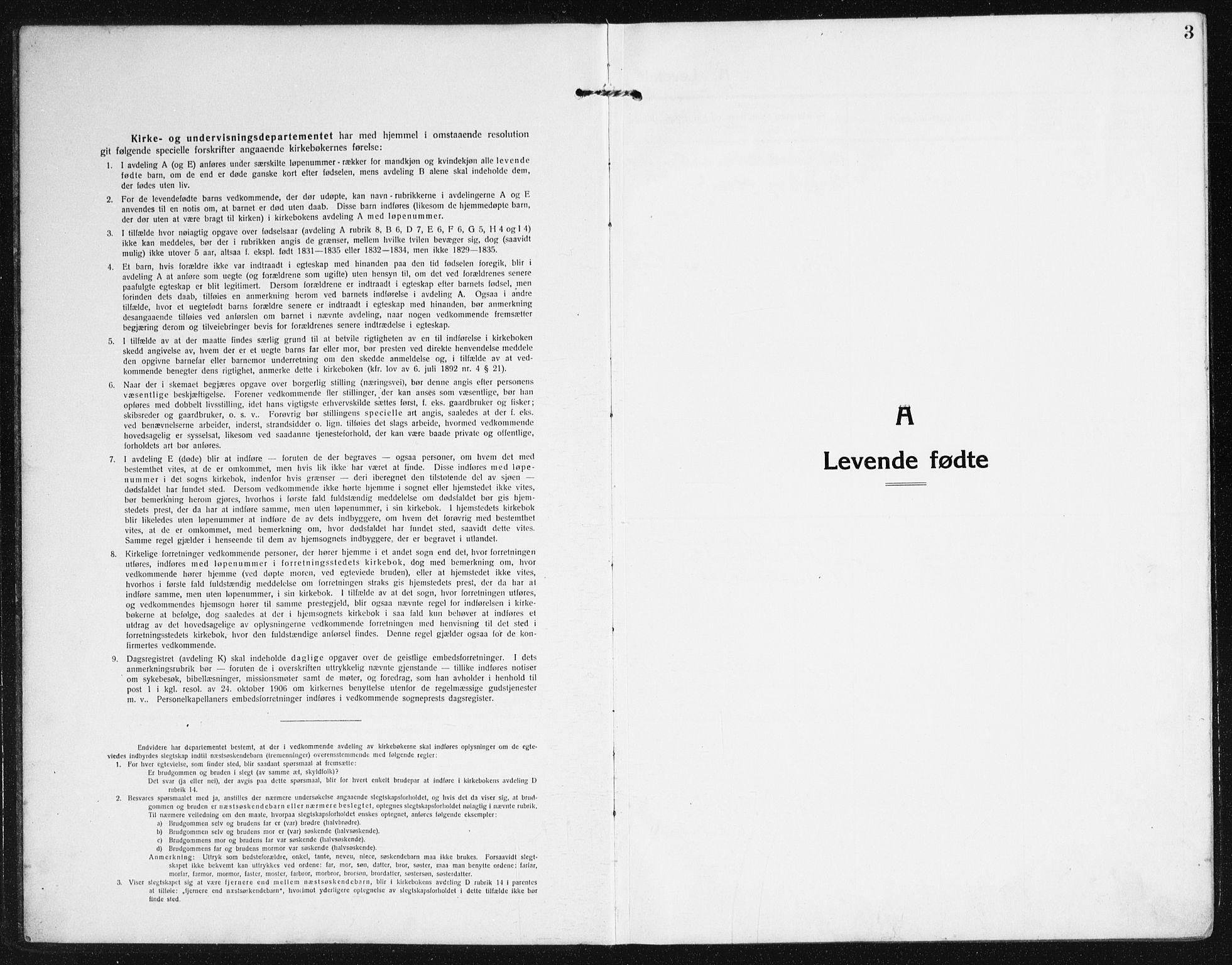 SAK, Valle sokneprestkontor, F/Fb/Fba/L0004: Klokkerbok nr. B 4, 1917-1944, s. 3