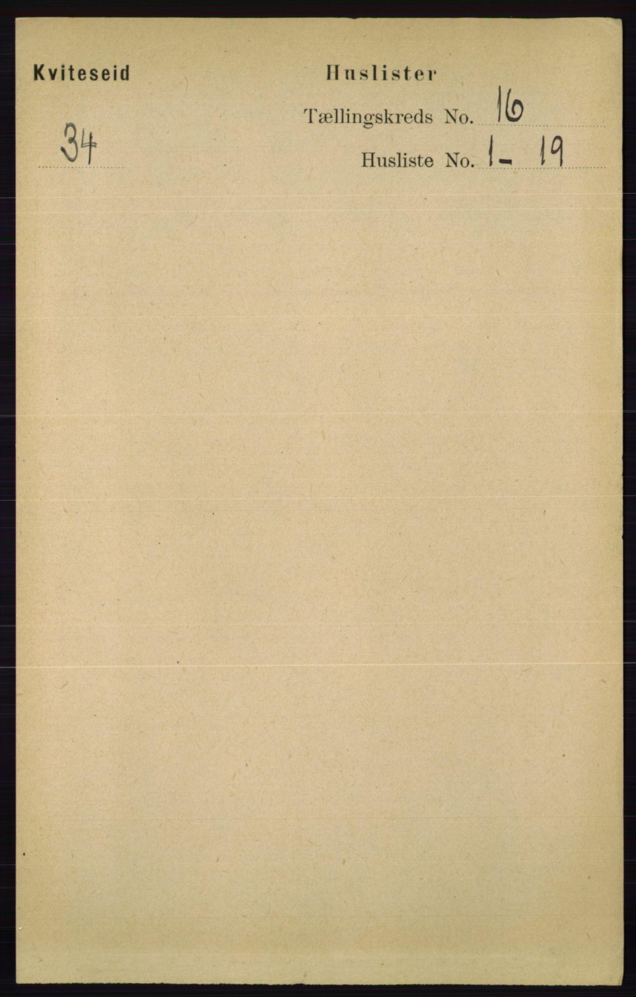 RA, Folketelling 1891 for 0829 Kviteseid herred, 1891, s. 3612