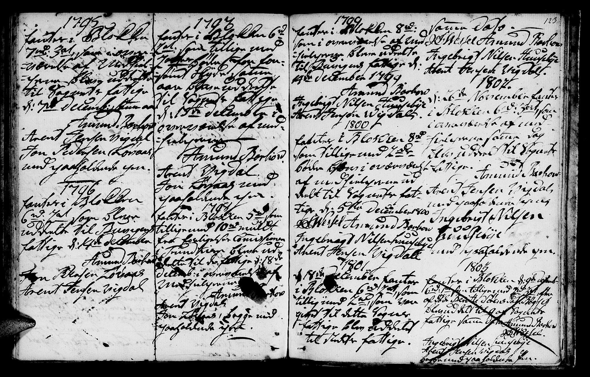 SAT, Ministerialprotokoller, klokkerbøker og fødselsregistre - Sør-Trøndelag, 666/L0784: Ministerialbok nr. 666A02, 1754-1802, s. 123