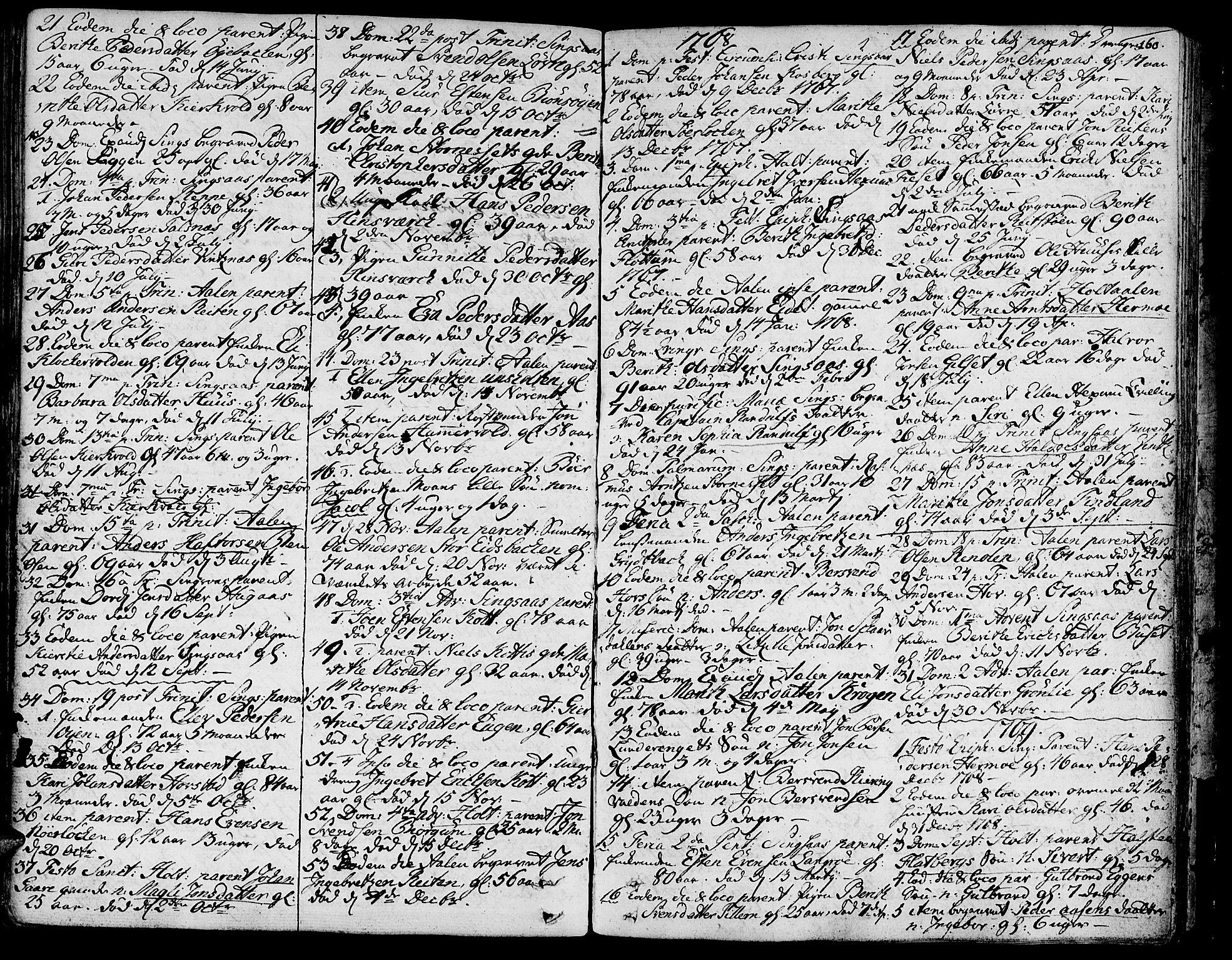 SAT, Ministerialprotokoller, klokkerbøker og fødselsregistre - Sør-Trøndelag, 685/L0952: Ministerialbok nr. 685A01, 1745-1804, s. 160
