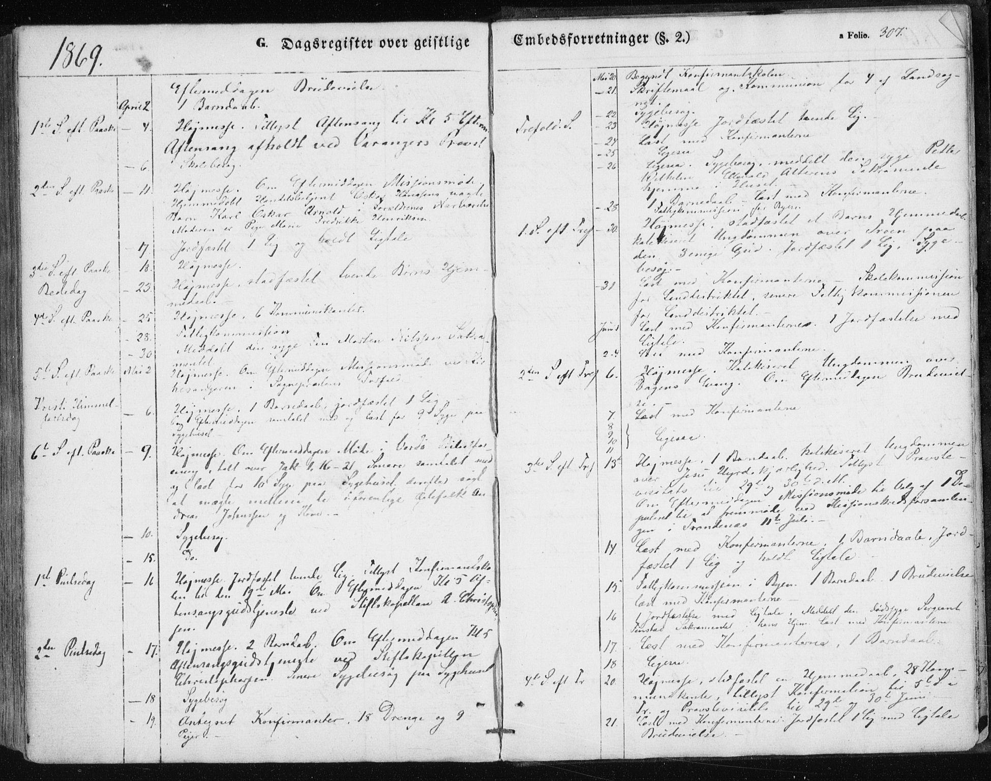 SATØ, Vardø sokneprestkontor, H/Ha/L0004kirke: Ministerialbok nr. 4, 1862-1871, s. 307