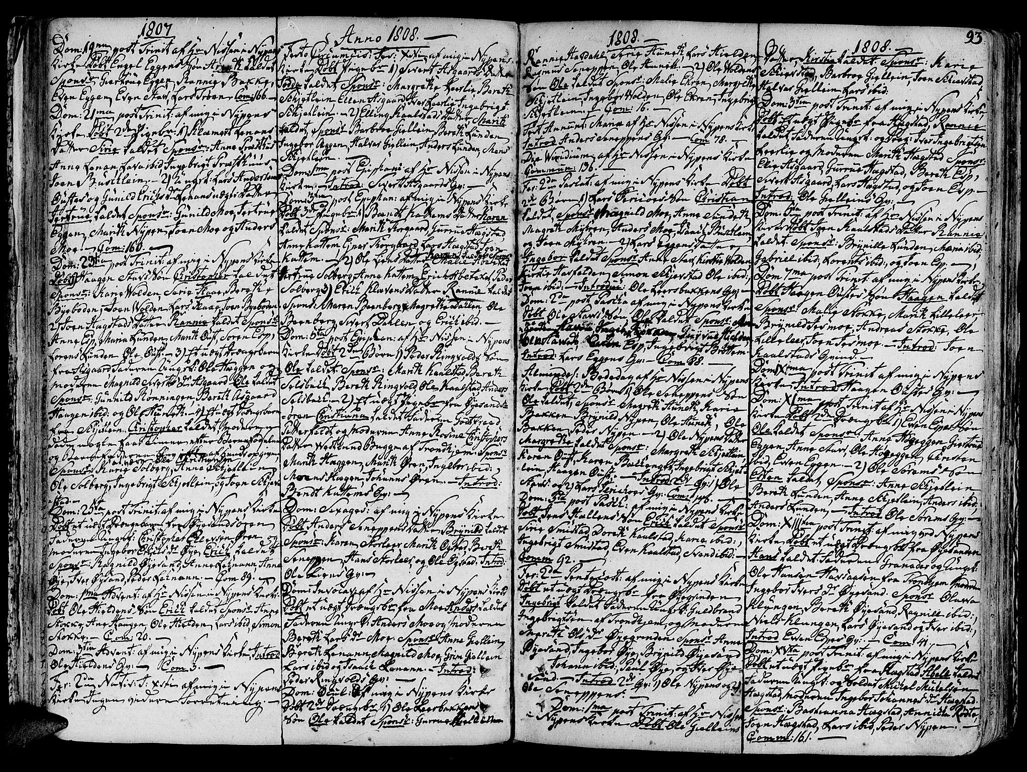 SAT, Ministerialprotokoller, klokkerbøker og fødselsregistre - Sør-Trøndelag, 691/L1063: Ministerialbok nr. 691A02 /3, 1768-1815, s. 93