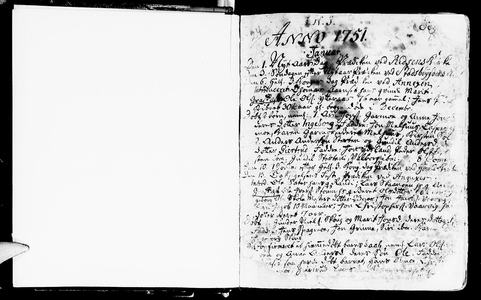SAT, Ministerialprotokoller, klokkerbøker og fødselsregistre - Sør-Trøndelag, 646/L0605: Ministerialbok nr. 646A03, 1751-1790, s. 0-1
