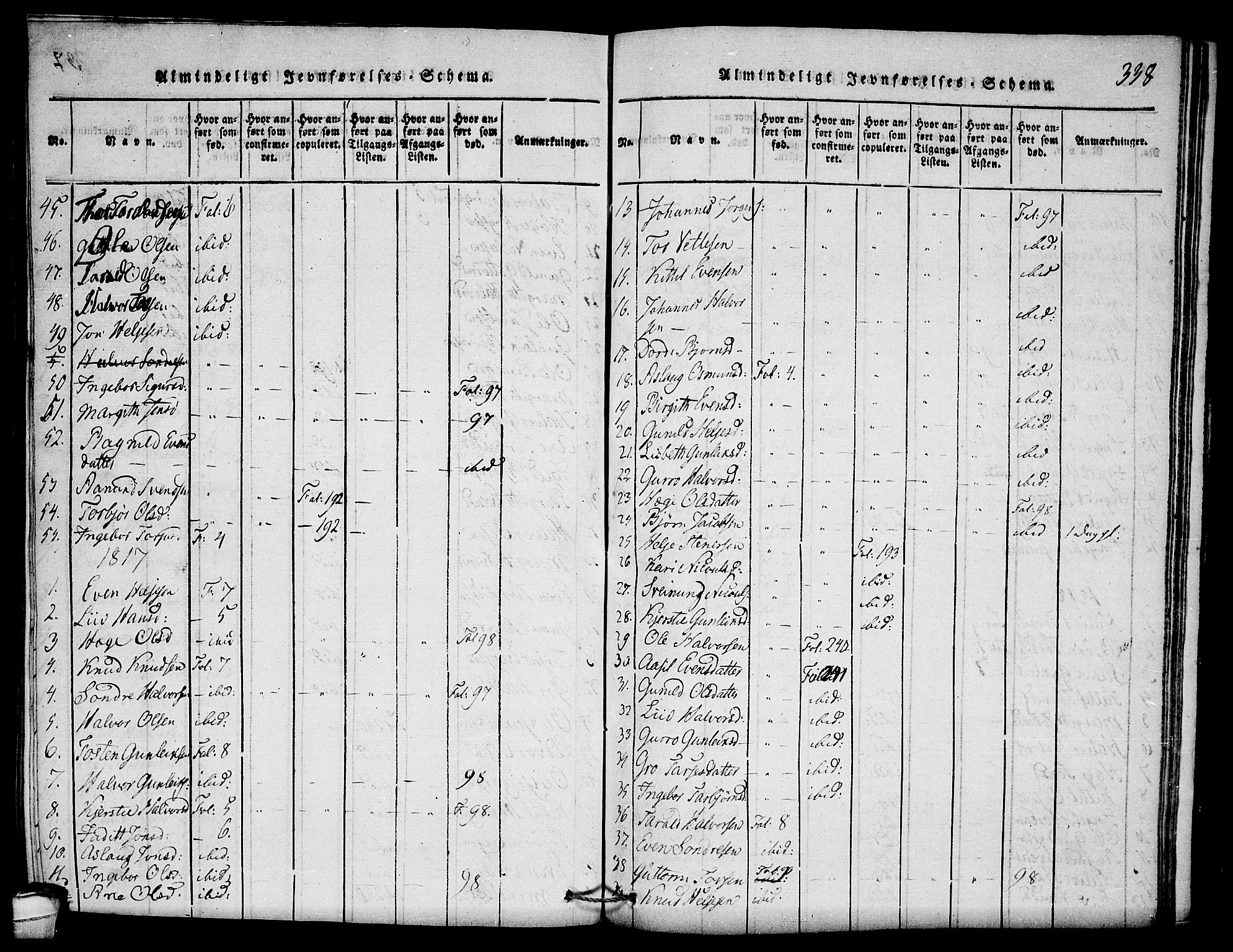 SAKO, Seljord kirkebøker, F/Fb/L0001: Ministerialbok nr. II 1, 1815-1831, s. 338