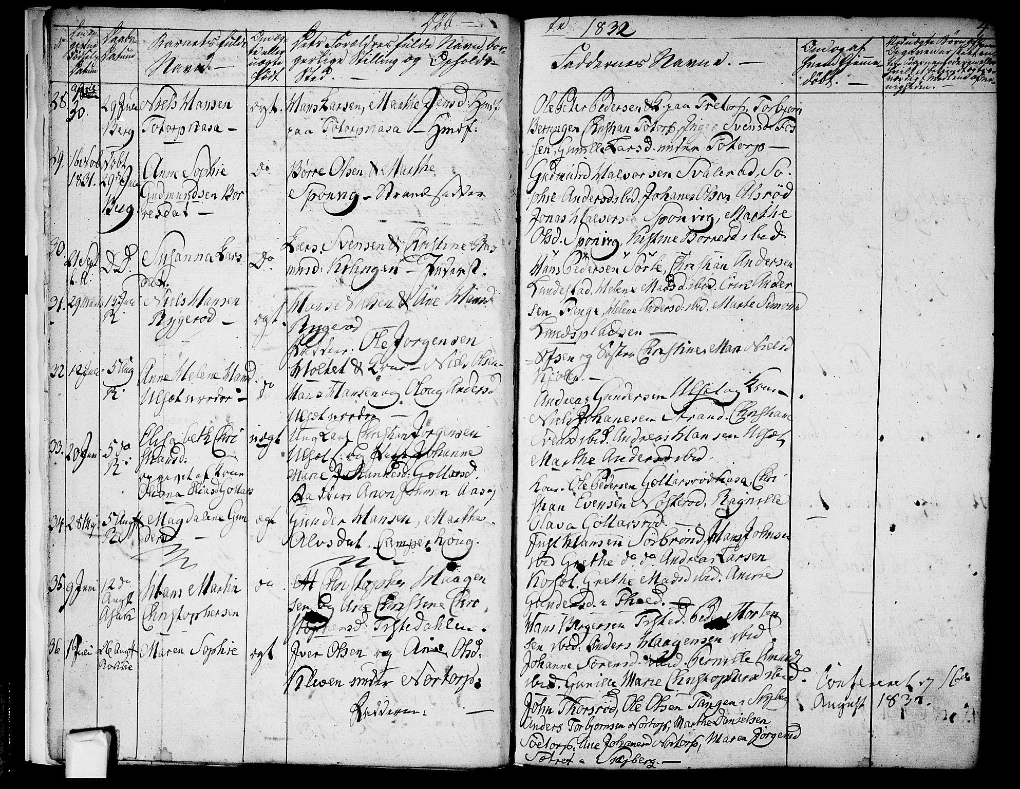SAO, Berg prestekontor Kirkebøker, F/Fa/L0003: Ministerialbok nr. I 3, 1832-1842, s. 4