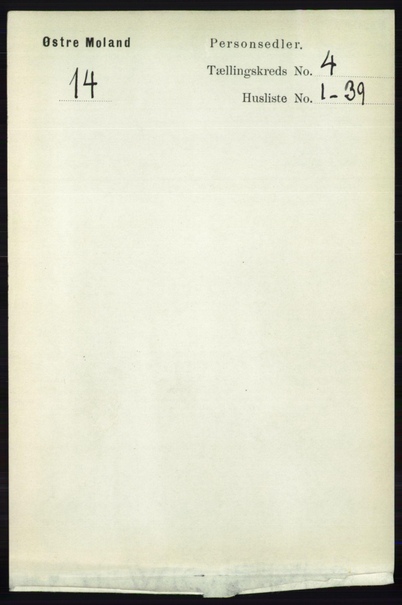 RA, Folketelling 1891 for 0918 Austre Moland herred, 1891, s. 2081