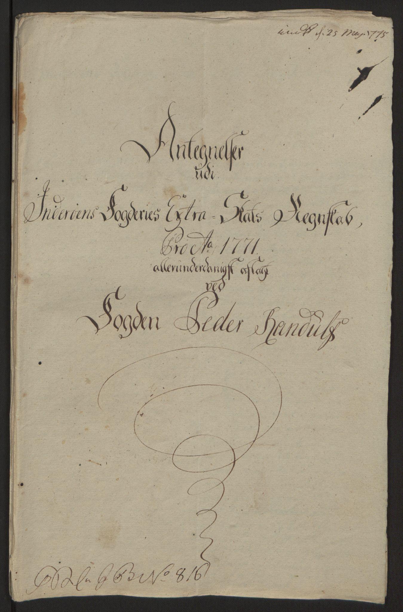 RA, Rentekammeret inntil 1814, Reviderte regnskaper, Fogderegnskap, R63/L4420: Ekstraskatten Inderøy, 1762-1772, s. 594