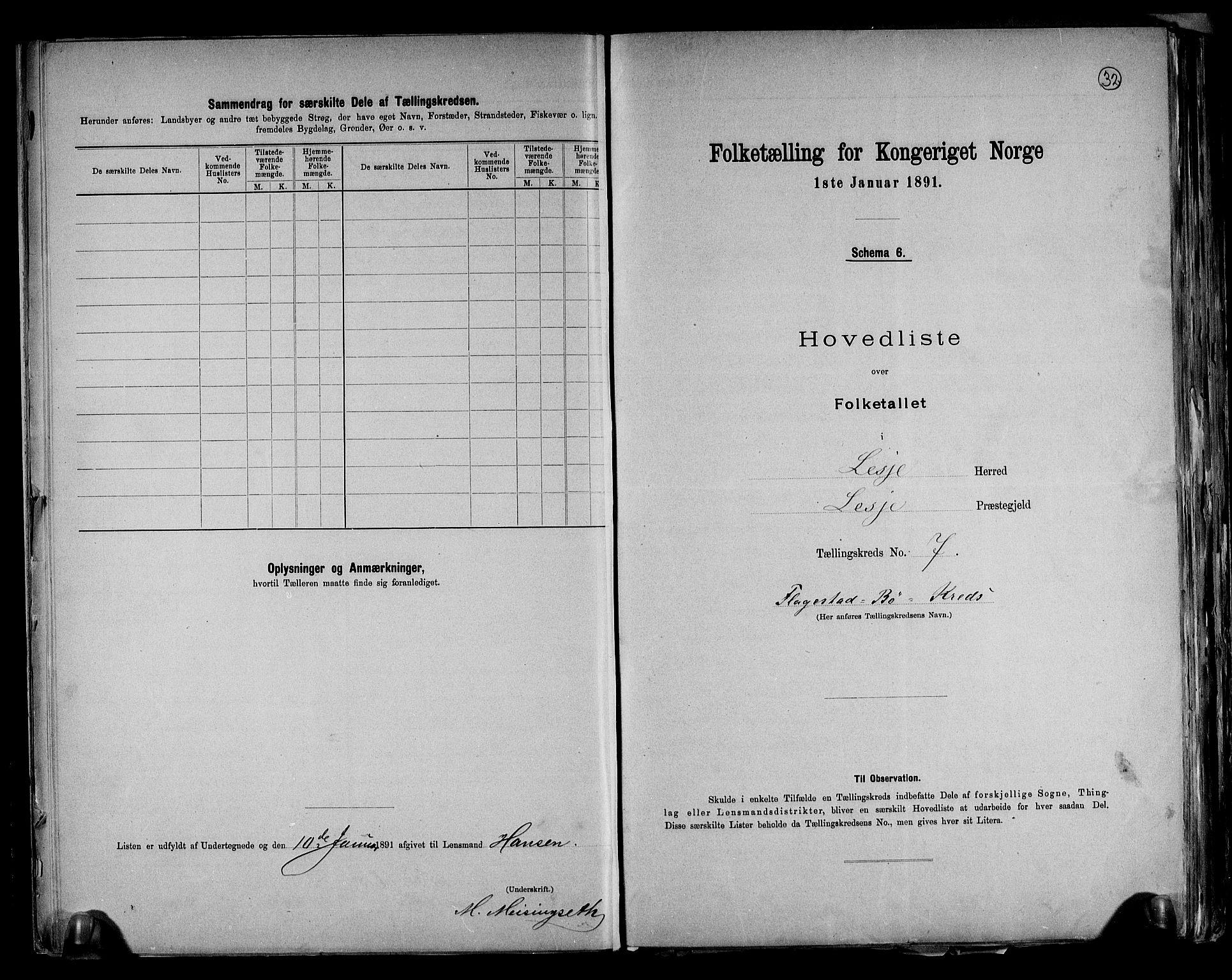 RA, Folketelling 1891 for 0512 Lesja herred, 1891, s. 17