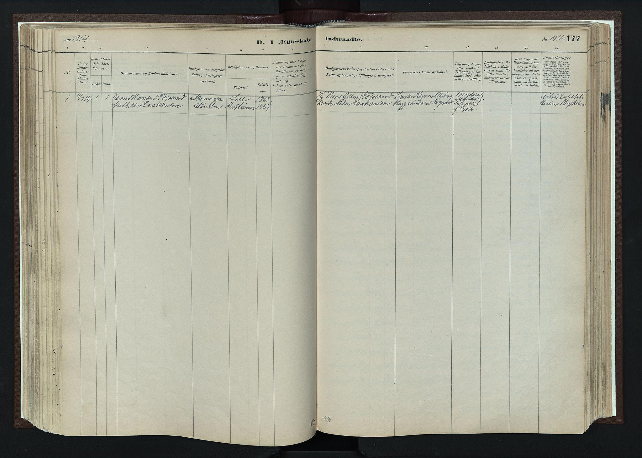 SAH, Nord-Fron prestekontor, Ministerialbok nr. 4, 1884-1914, s. 177