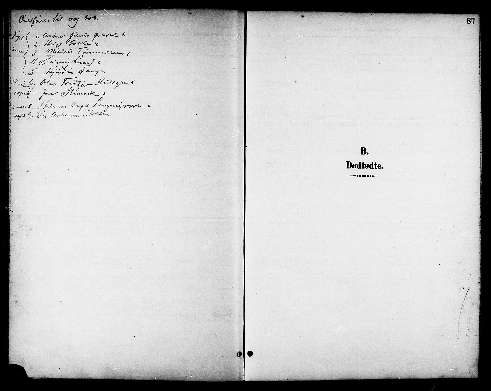 SAT, Ministerialprotokoller, klokkerbøker og fødselsregistre - Nord-Trøndelag, 714/L0135: Klokkerbok nr. 714C04, 1899-1918, s. 87