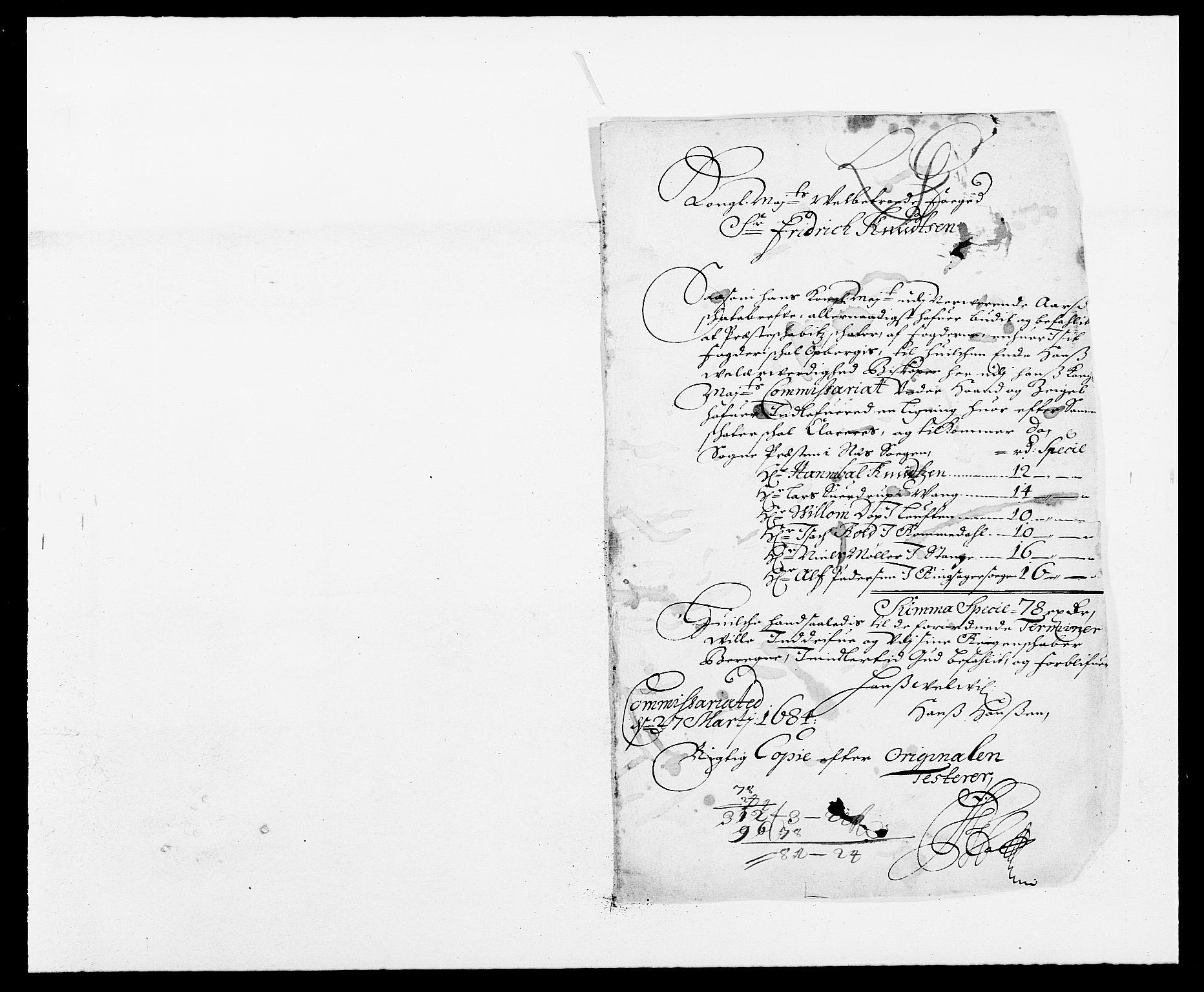 RA, Rentekammeret inntil 1814, Reviderte regnskaper, Fogderegnskap, R16/L1025: Fogderegnskap Hedmark, 1684, s. 343