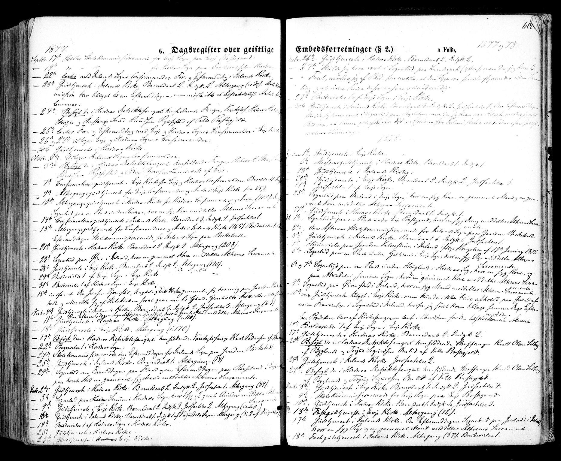 SAK, Evje sokneprestkontor, F/Fa/Faa/L0006: Ministerialbok nr. A 6, 1866-1884, s. 600