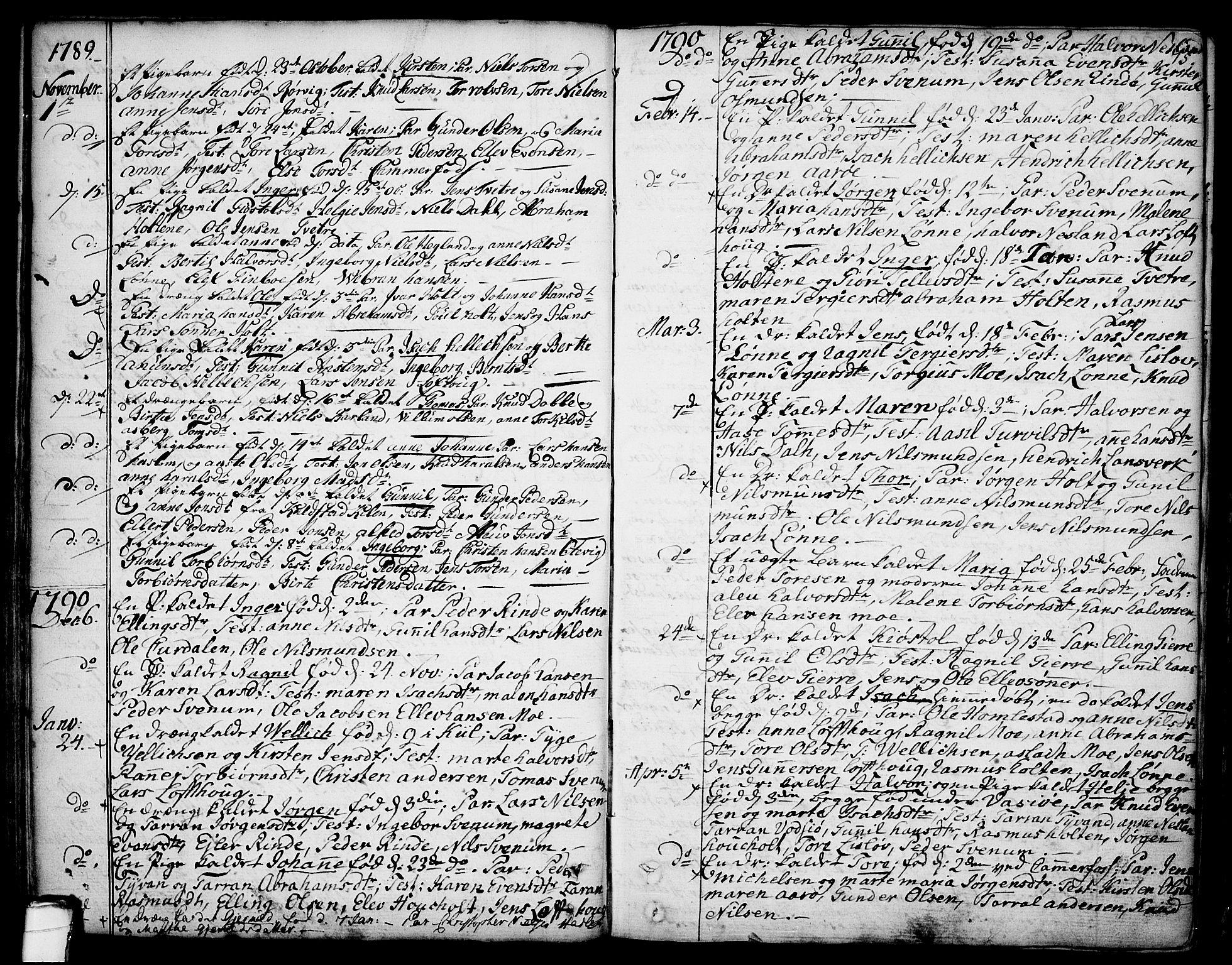 SAKO, Sannidal kirkebøker, F/Fa/L0002: Ministerialbok nr. 2, 1767-1802, s. 75