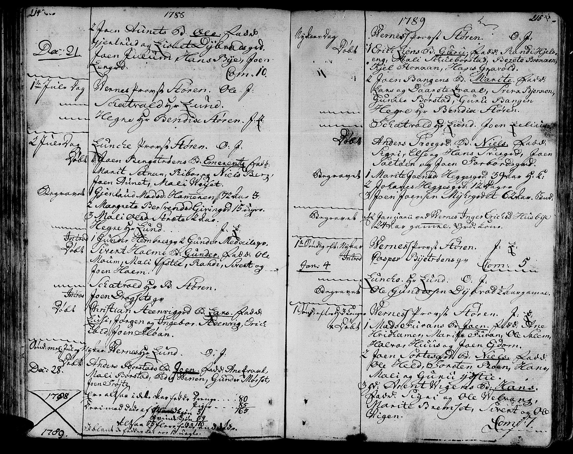 SAT, Ministerialprotokoller, klokkerbøker og fødselsregistre - Nord-Trøndelag, 709/L0059: Ministerialbok nr. 709A06, 1781-1797, s. 214-215