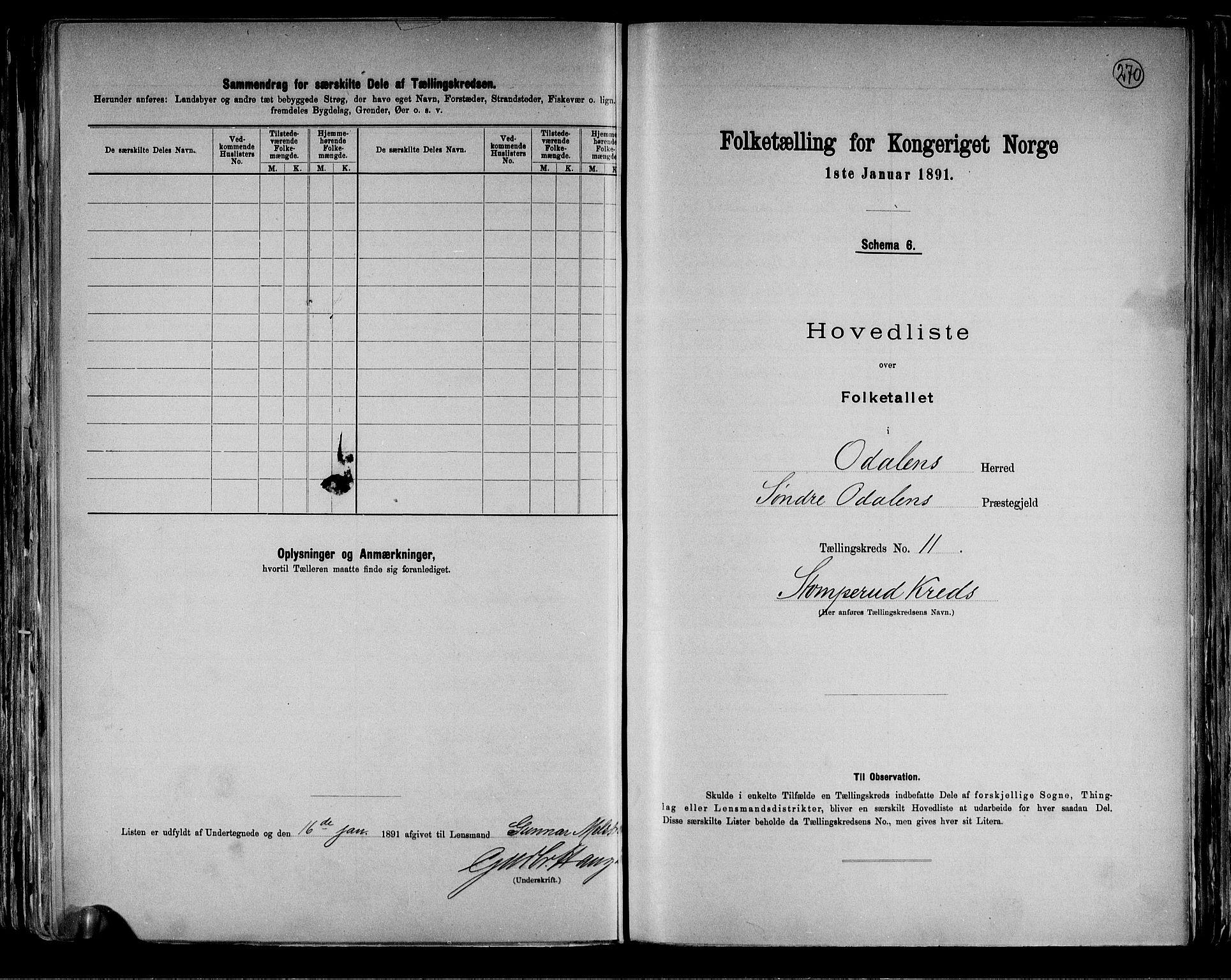 RA, Folketelling 1891 for 0419 Sør-Odal herred, 1891, s. 33