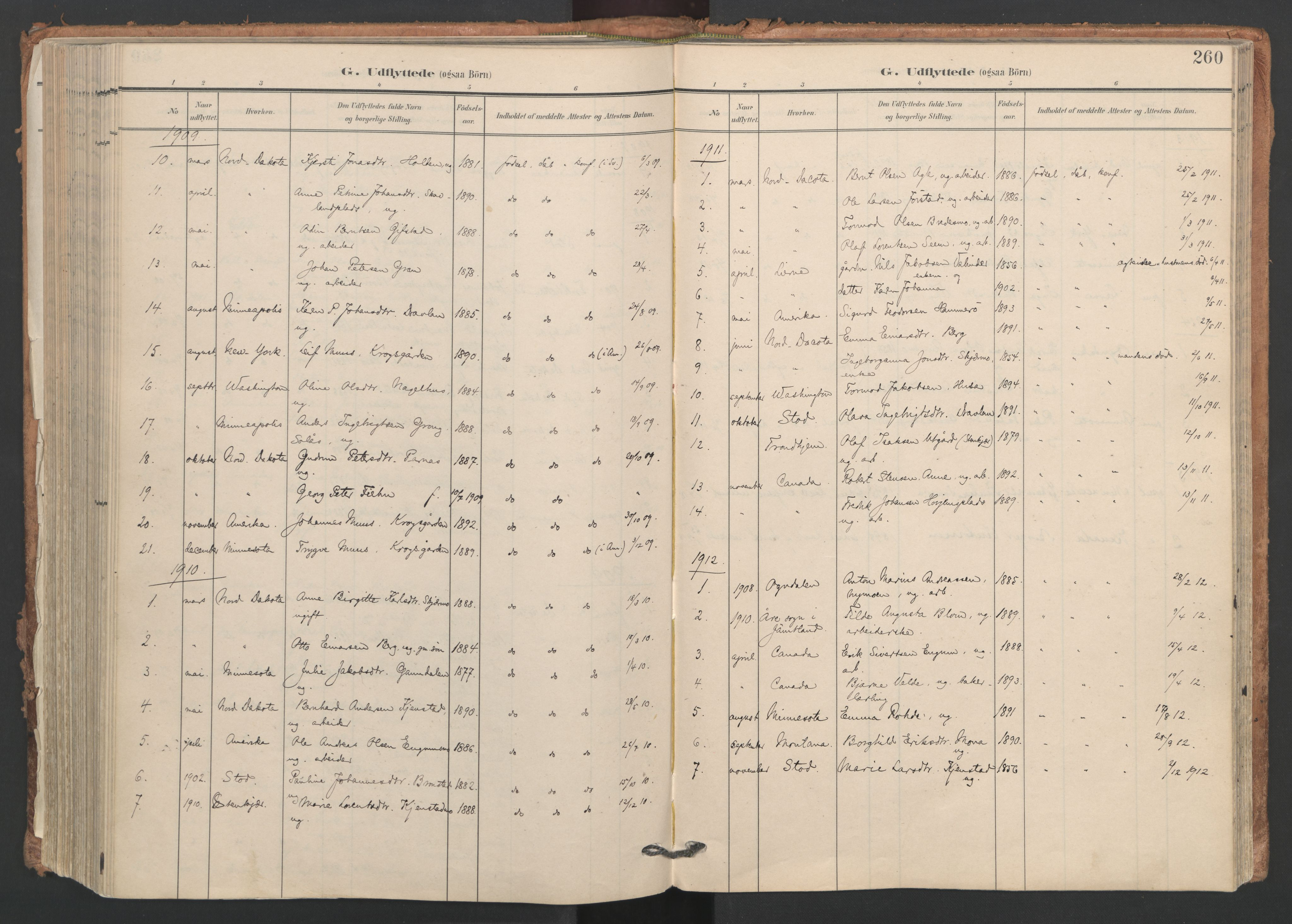 SAT, Ministerialprotokoller, klokkerbøker og fødselsregistre - Nord-Trøndelag, 749/L0477: Ministerialbok nr. 749A11, 1902-1927, s. 260