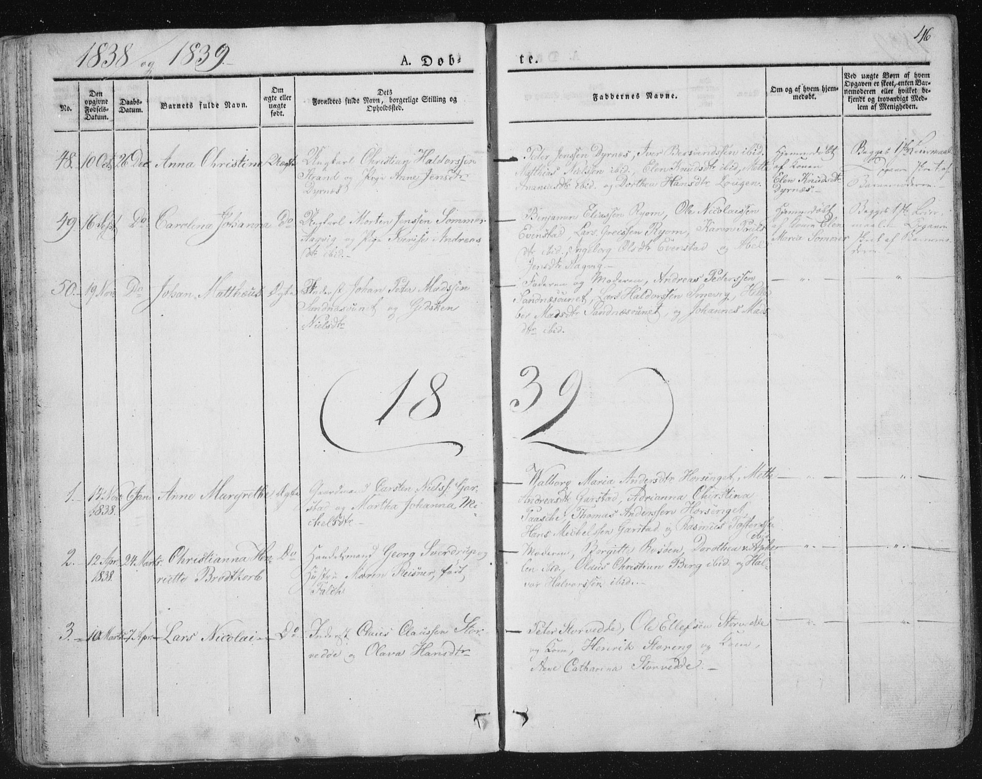 SAT, Ministerialprotokoller, klokkerbøker og fødselsregistre - Nord-Trøndelag, 784/L0669: Ministerialbok nr. 784A04, 1829-1859, s. 46