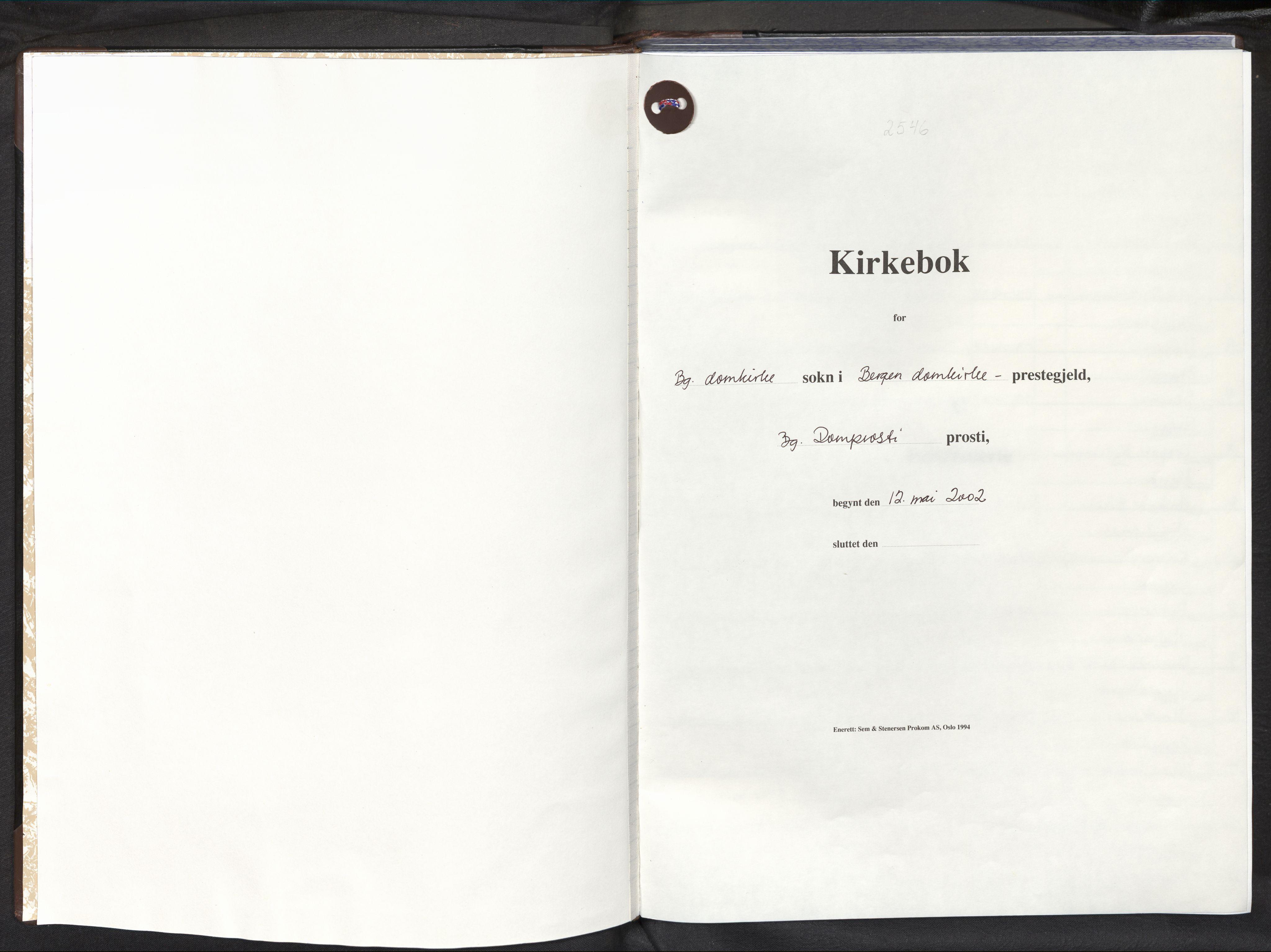 SAB, Domkirken Sokneprestembete, H/Haa: Ministerialbok nr. B 1, 2002-2011