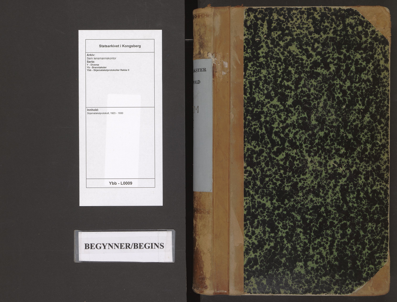 SAKO, Sem lensmannskontor, Y/Yb/Ybb/L0009: Skjematakstprotokoll, 1923-1930