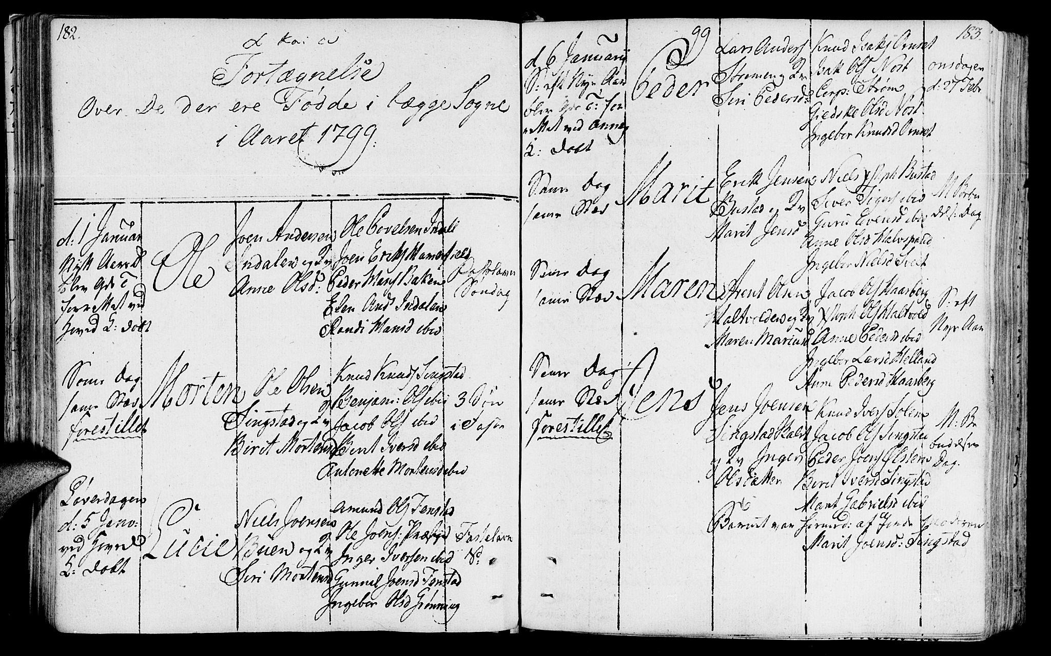 SAT, Ministerialprotokoller, klokkerbøker og fødselsregistre - Sør-Trøndelag, 646/L0606: Ministerialbok nr. 646A04, 1791-1805, s. 182-183