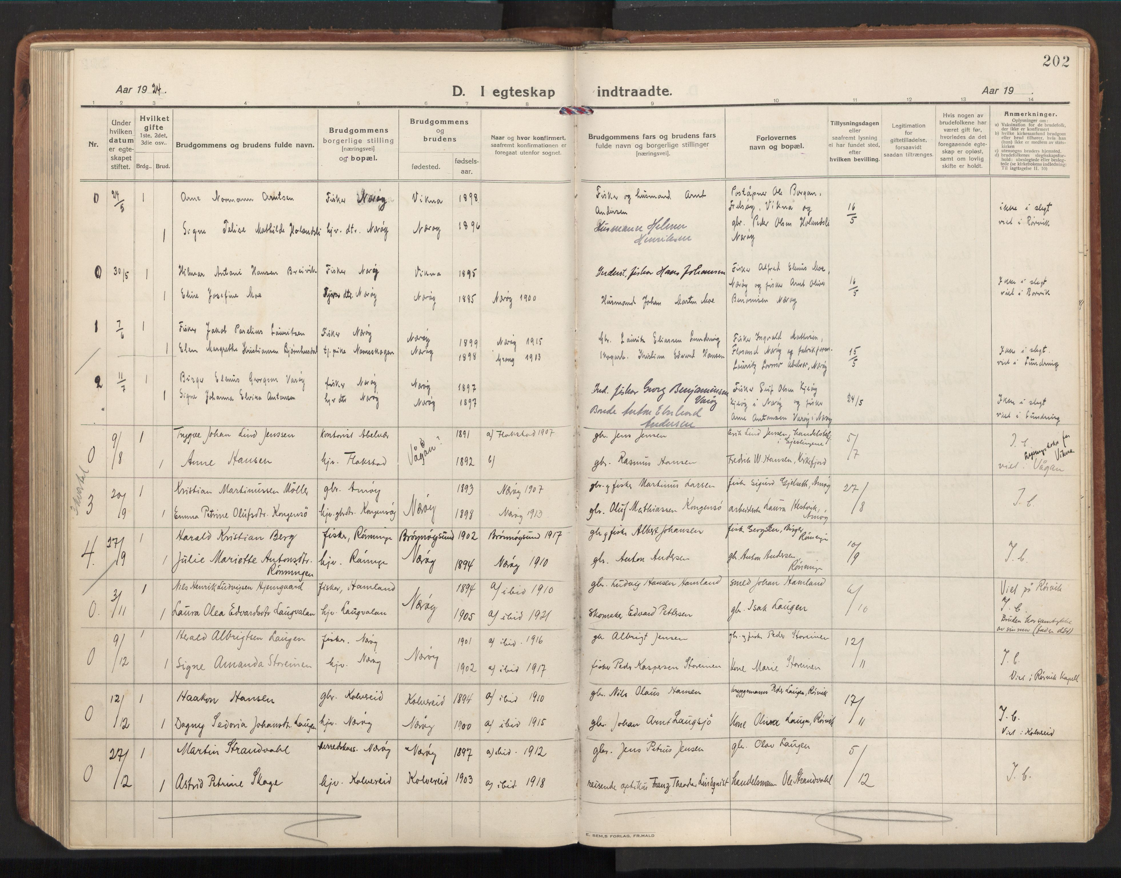 SAT, Ministerialprotokoller, klokkerbøker og fødselsregistre - Nord-Trøndelag, 784/L0678: Ministerialbok nr. 784A13, 1921-1938, s. 202