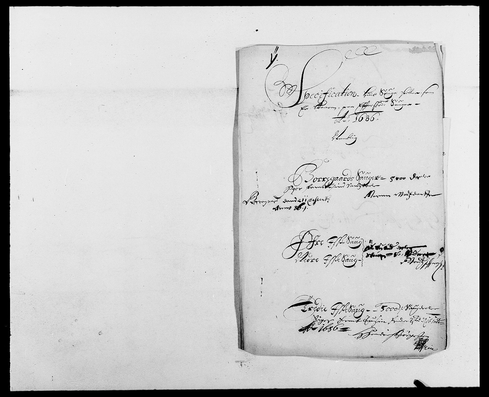 RA, Rentekammeret inntil 1814, Reviderte regnskaper, Fogderegnskap, R03/L0116: Fogderegnskap Onsøy, Tune, Veme og Åbygge fogderi, 1684-1689, s. 283