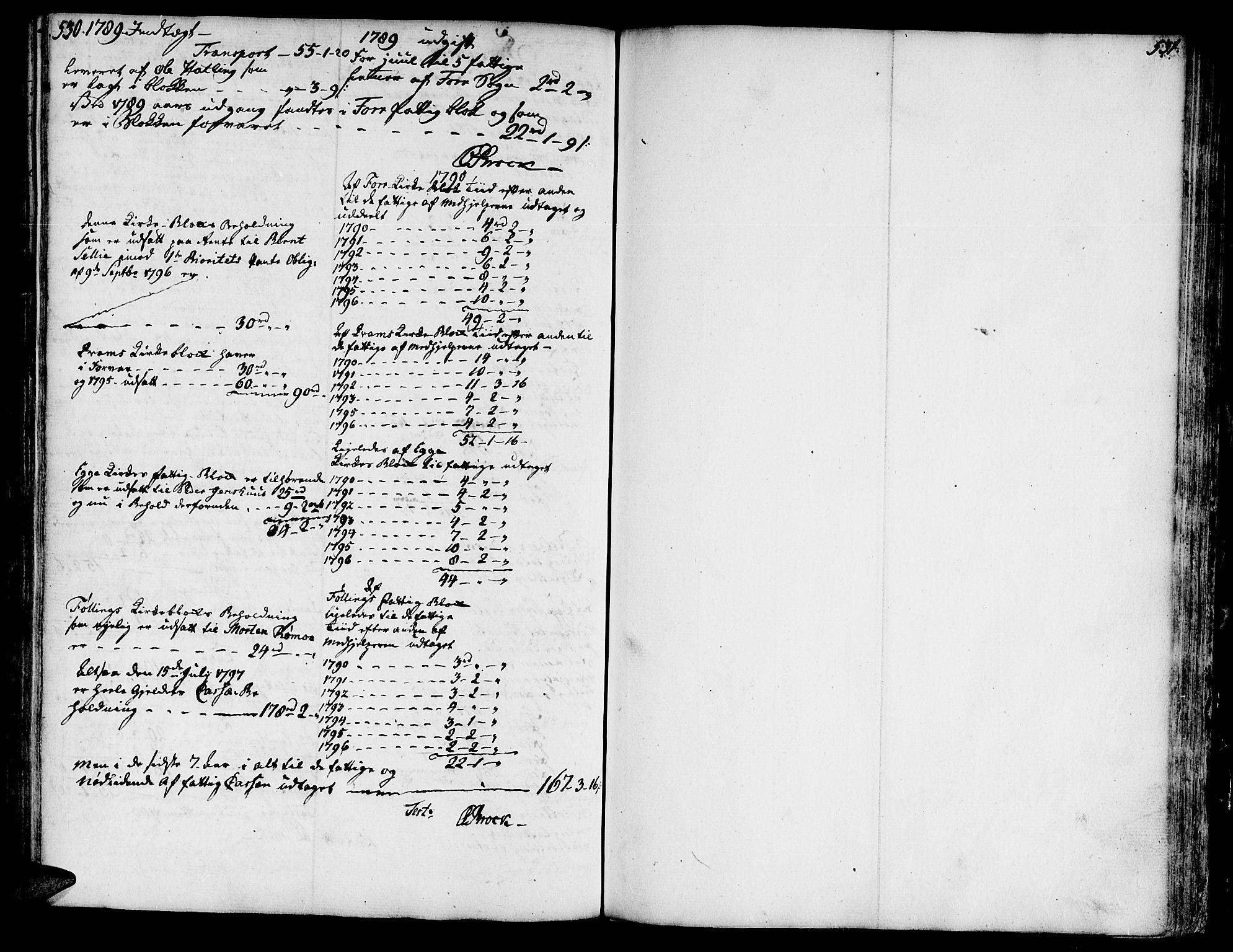 SAT, Ministerialprotokoller, klokkerbøker og fødselsregistre - Nord-Trøndelag, 746/L0440: Ministerialbok nr. 746A02, 1760-1815, s. 530-531