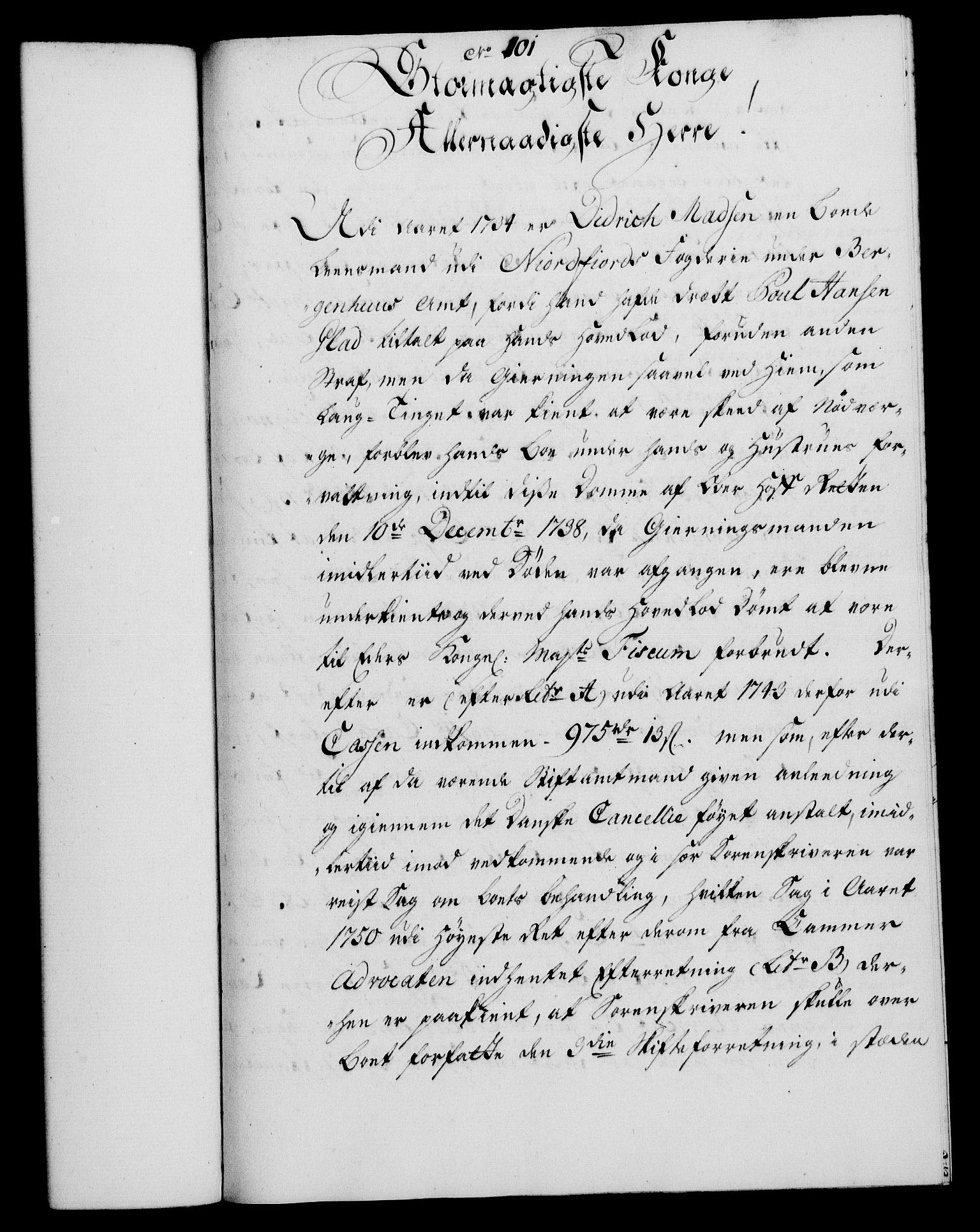 RA, Rentekammeret, Kammerkanselliet, G/Gf/Gfa/L0036: Norsk relasjons- og resolusjonsprotokoll (merket RK 52.36), 1754, s. 577