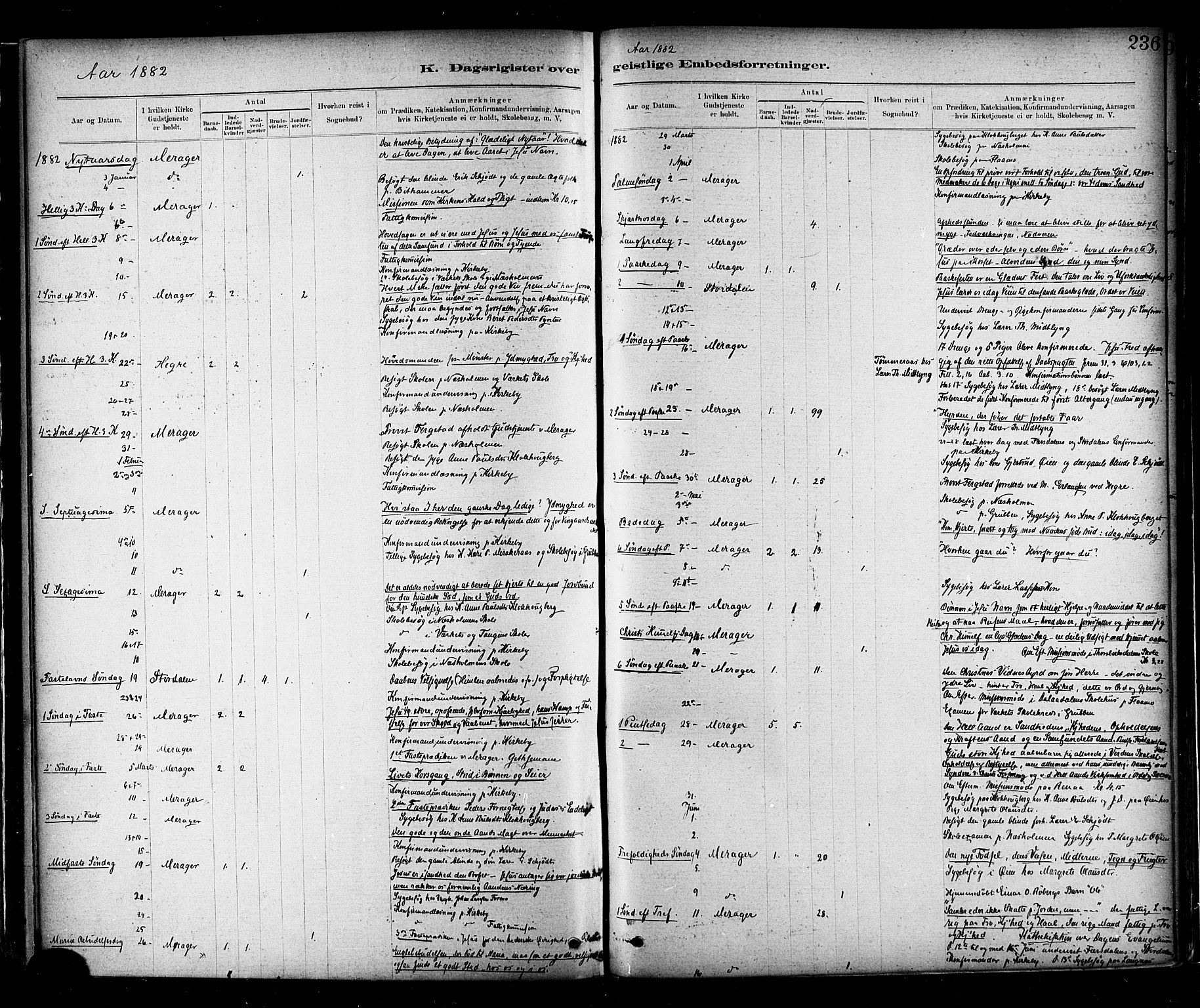 SAT, Ministerialprotokoller, klokkerbøker og fødselsregistre - Nord-Trøndelag, 706/L0047: Ministerialbok nr. 706A03, 1878-1892, s. 236