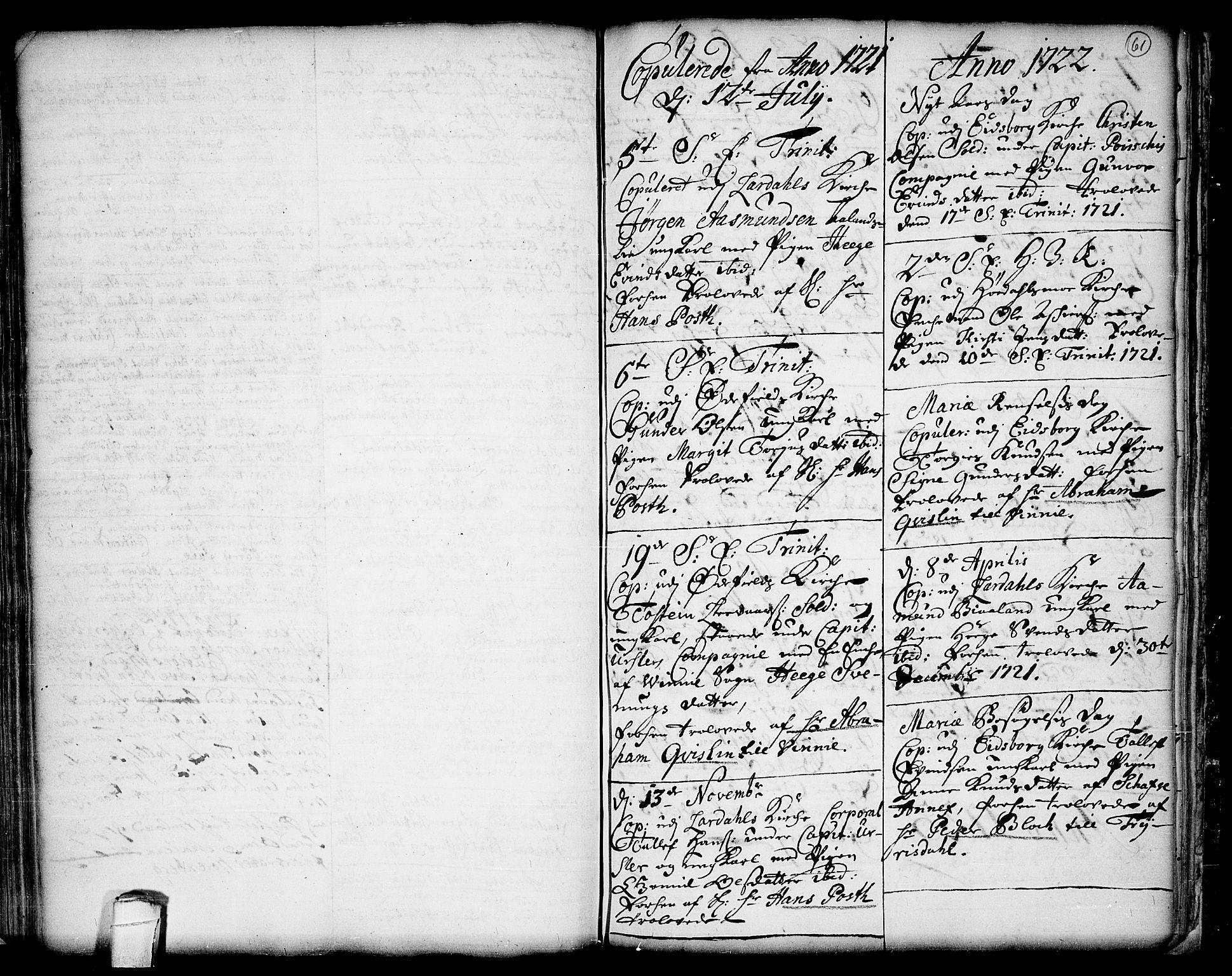 SAKO, Lårdal kirkebøker, F/Fa/L0001: Ministerialbok nr. I 1, 1721-1734, s. 61