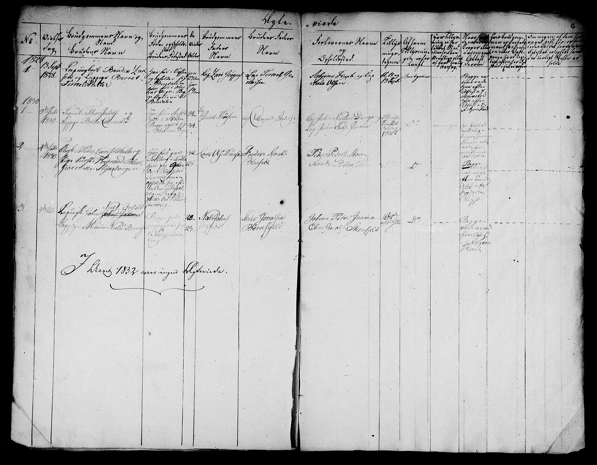 SAT, Ministerialprotokoller, klokkerbøker og fødselsregistre - Nord-Trøndelag, 762/L0536: Ministerialbok nr. 762A01 /1, 1828-1832, s. 6