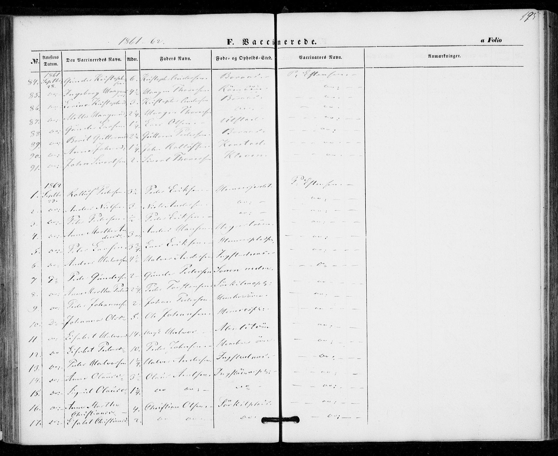 SAT, Ministerialprotokoller, klokkerbøker og fødselsregistre - Nord-Trøndelag, 703/L0028: Ministerialbok nr. 703A01, 1850-1862, s. 195