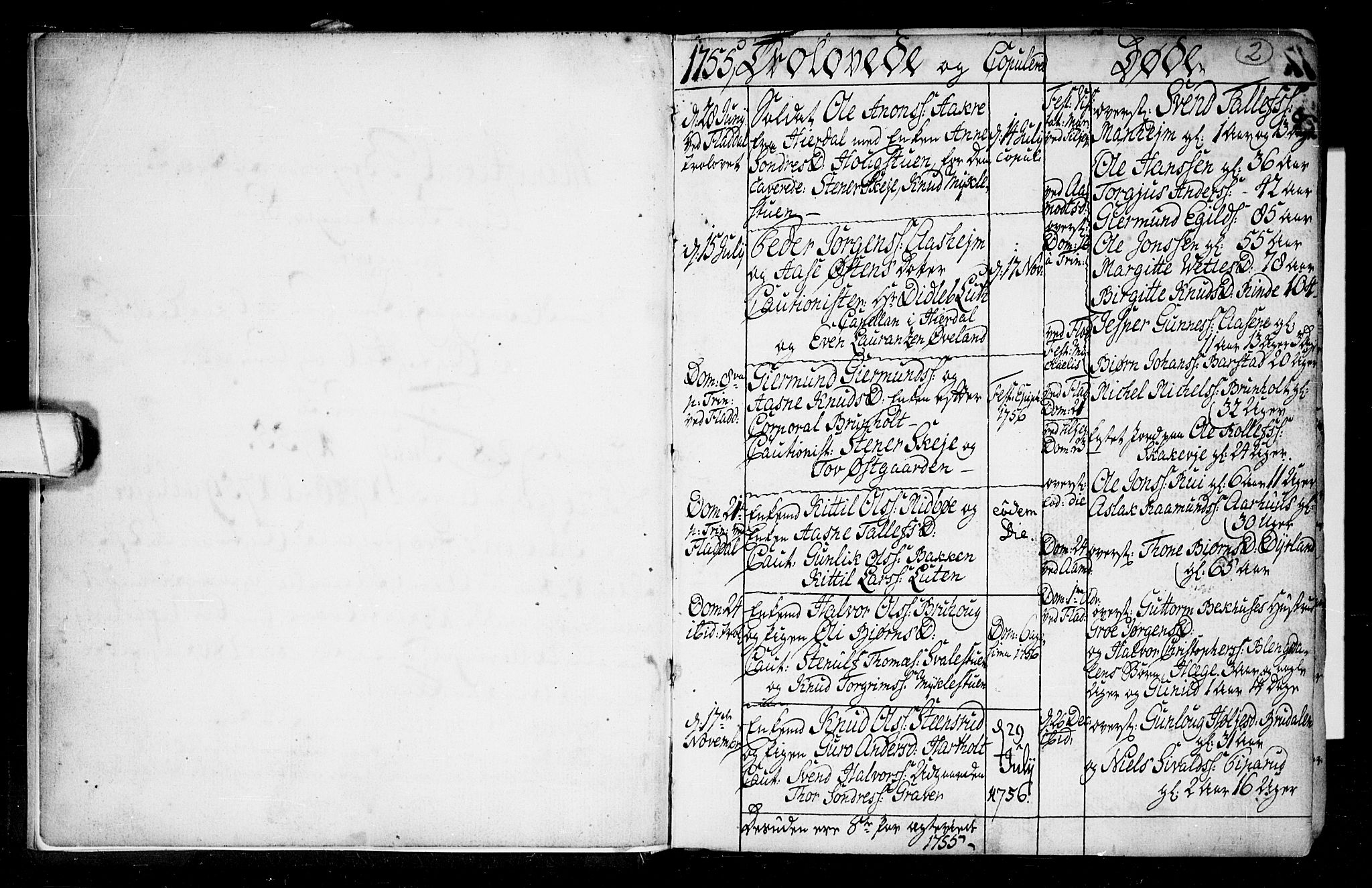 SAKO, Seljord kirkebøker, F/Fa/L0008: Ministerialbok nr. I 8, 1755-1814, s. 2
