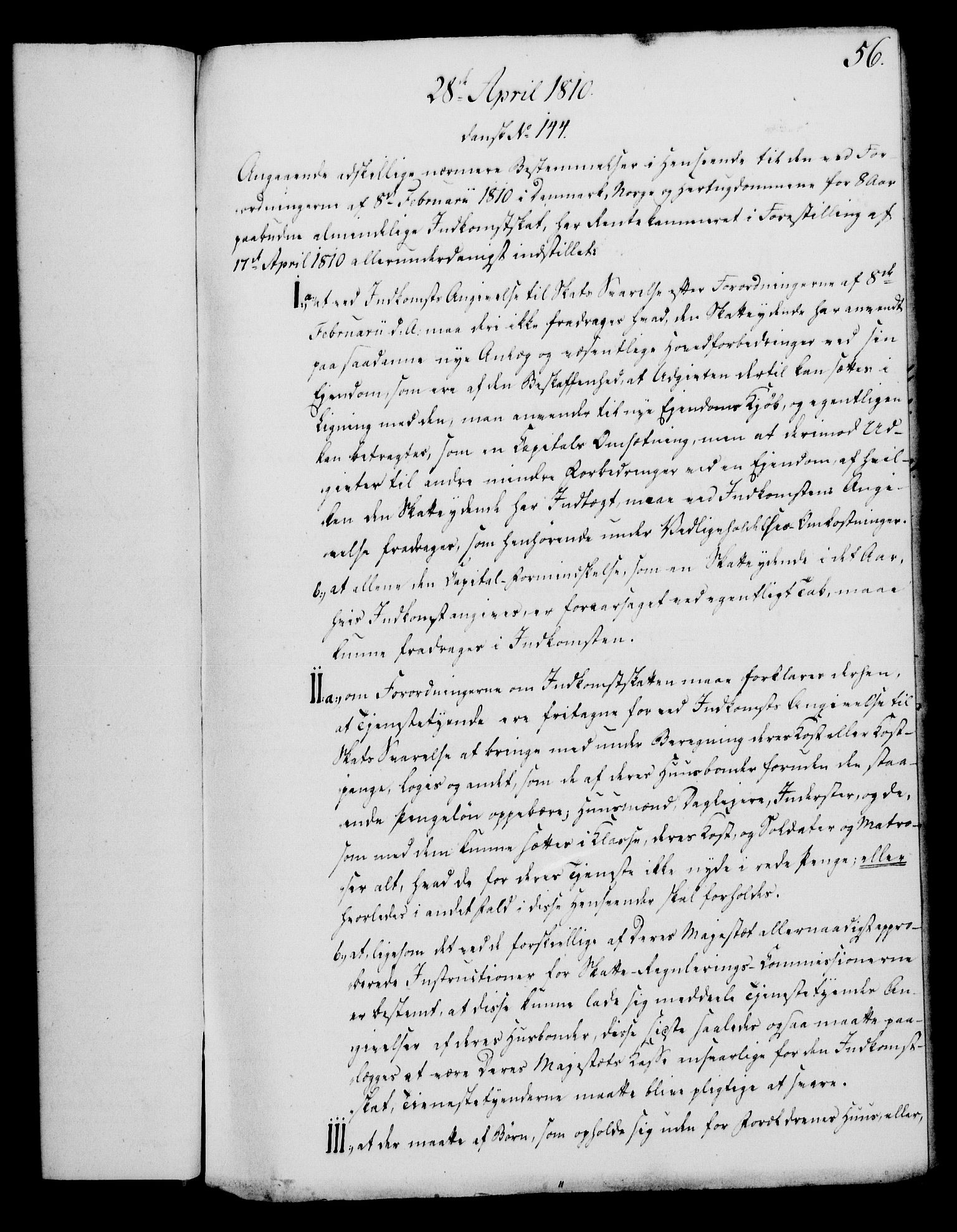 RA, Rentekammeret, Kammerkanselliet, G/Gf/Gfa/L0092: Norsk relasjons- og resolusjonsprotokoll (merket RK 52.92), 1810, s. 220