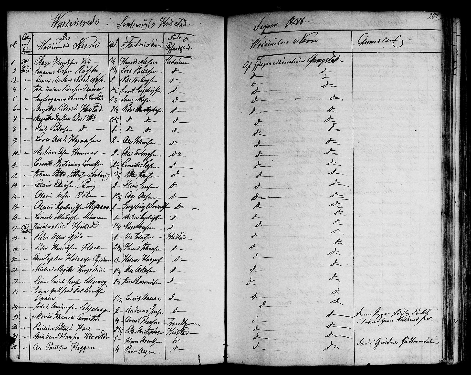 SAT, Ministerialprotokoller, klokkerbøker og fødselsregistre - Nord-Trøndelag, 730/L0277: Ministerialbok nr. 730A06 /1, 1830-1839, s. 207